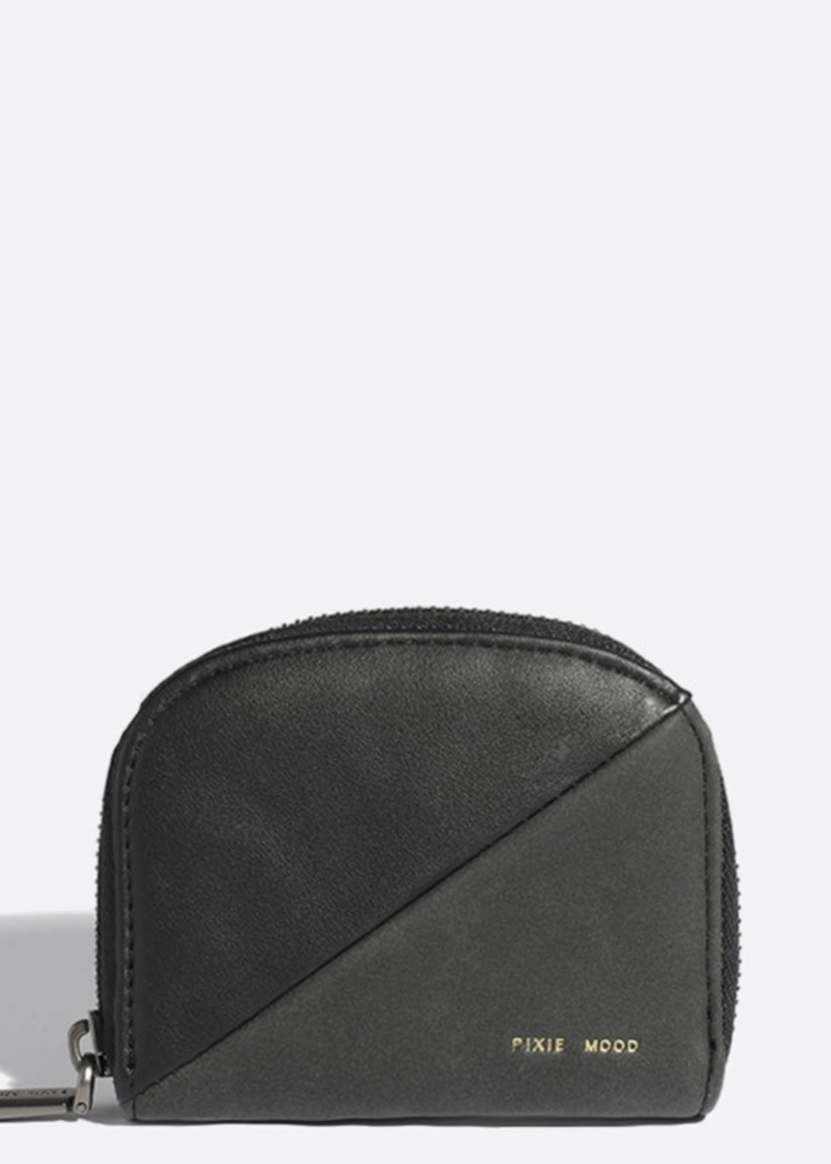 PIXIE MOOD Ida Card Case BLACK/NUBUCK