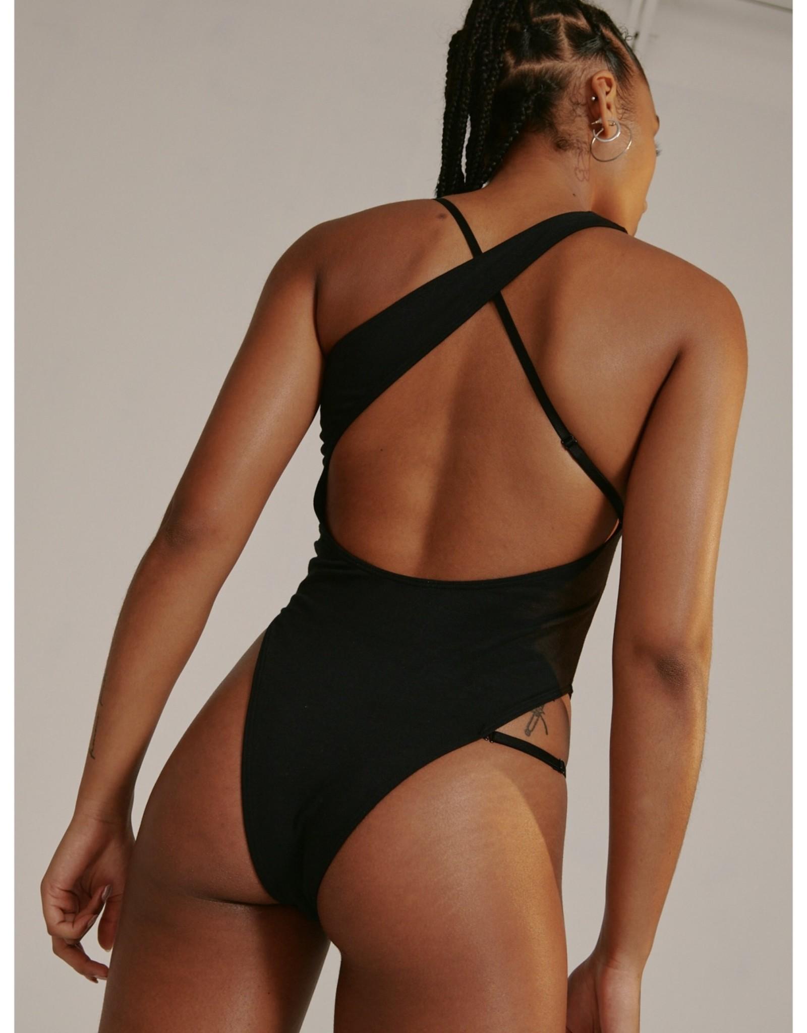 BLUSH Glitch Asymmetric Bodysuit