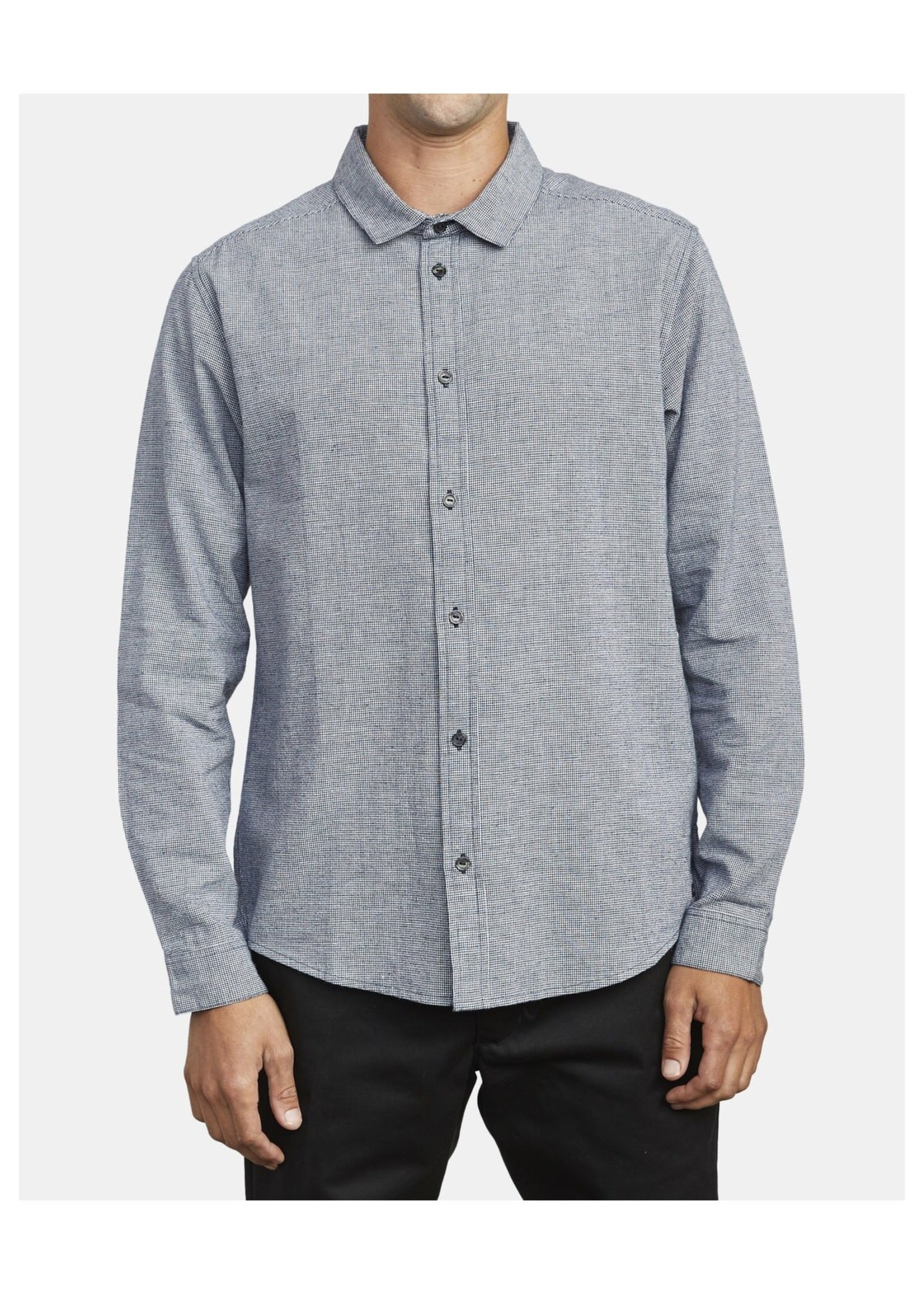 RVCA Chrushed Check LS Shirt