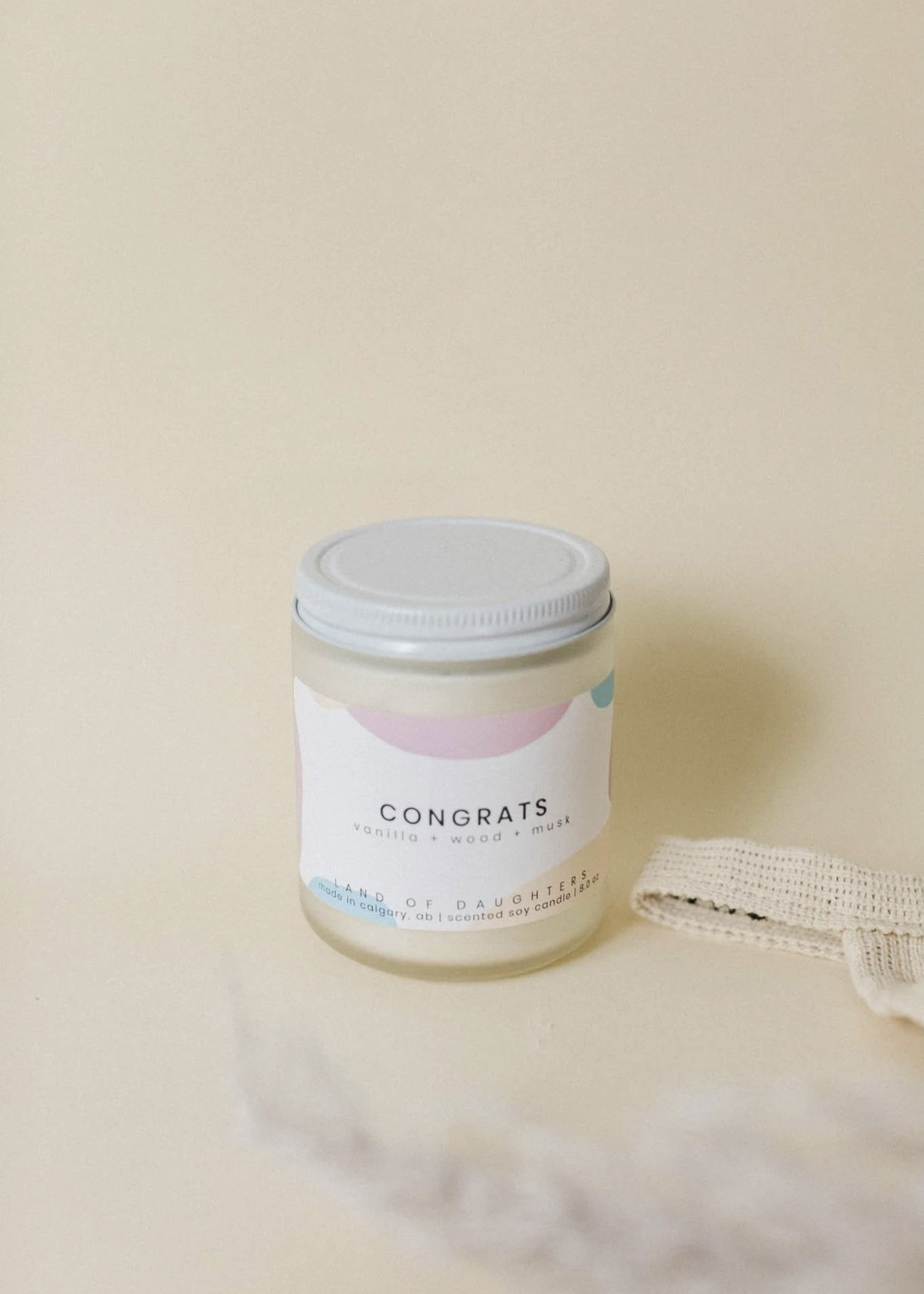 LAND of DAUGHTERS Congrats CANDLE