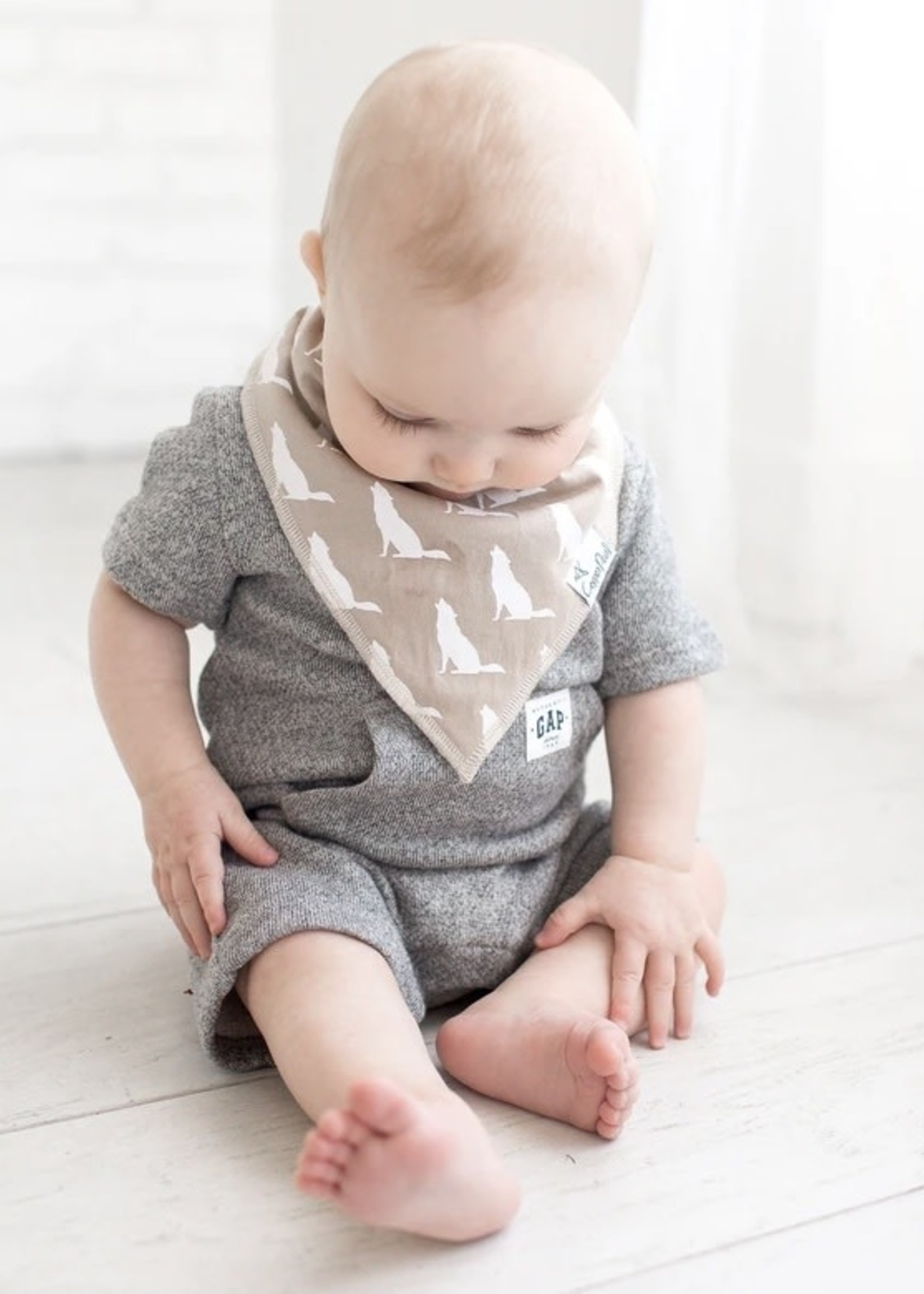 COPPER PEARL 4-pack Baby Bandana Bibs - PHOENIX