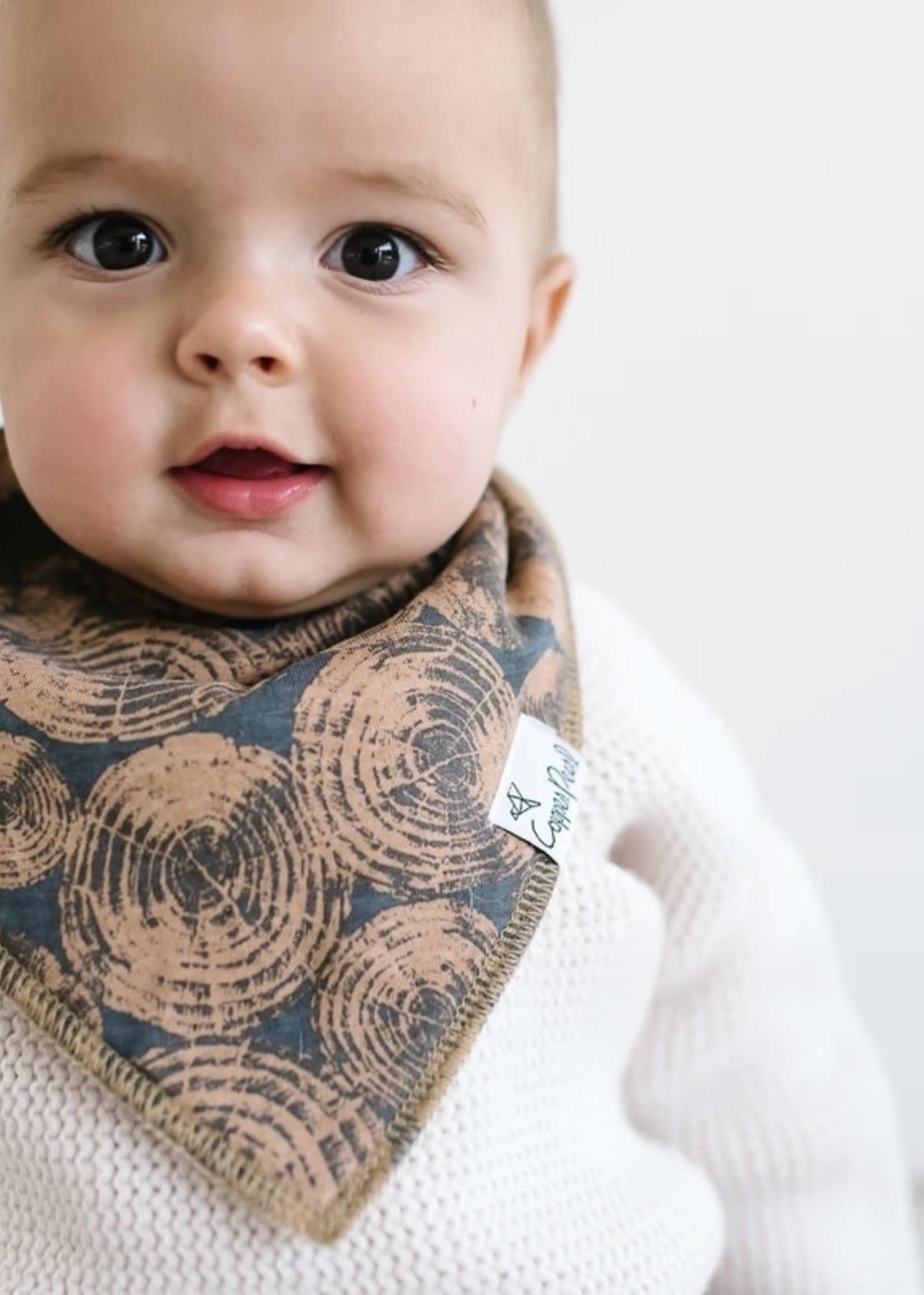 COPPER PEARL 4-pack Baby Bandana Bibs - LUMBERJACK