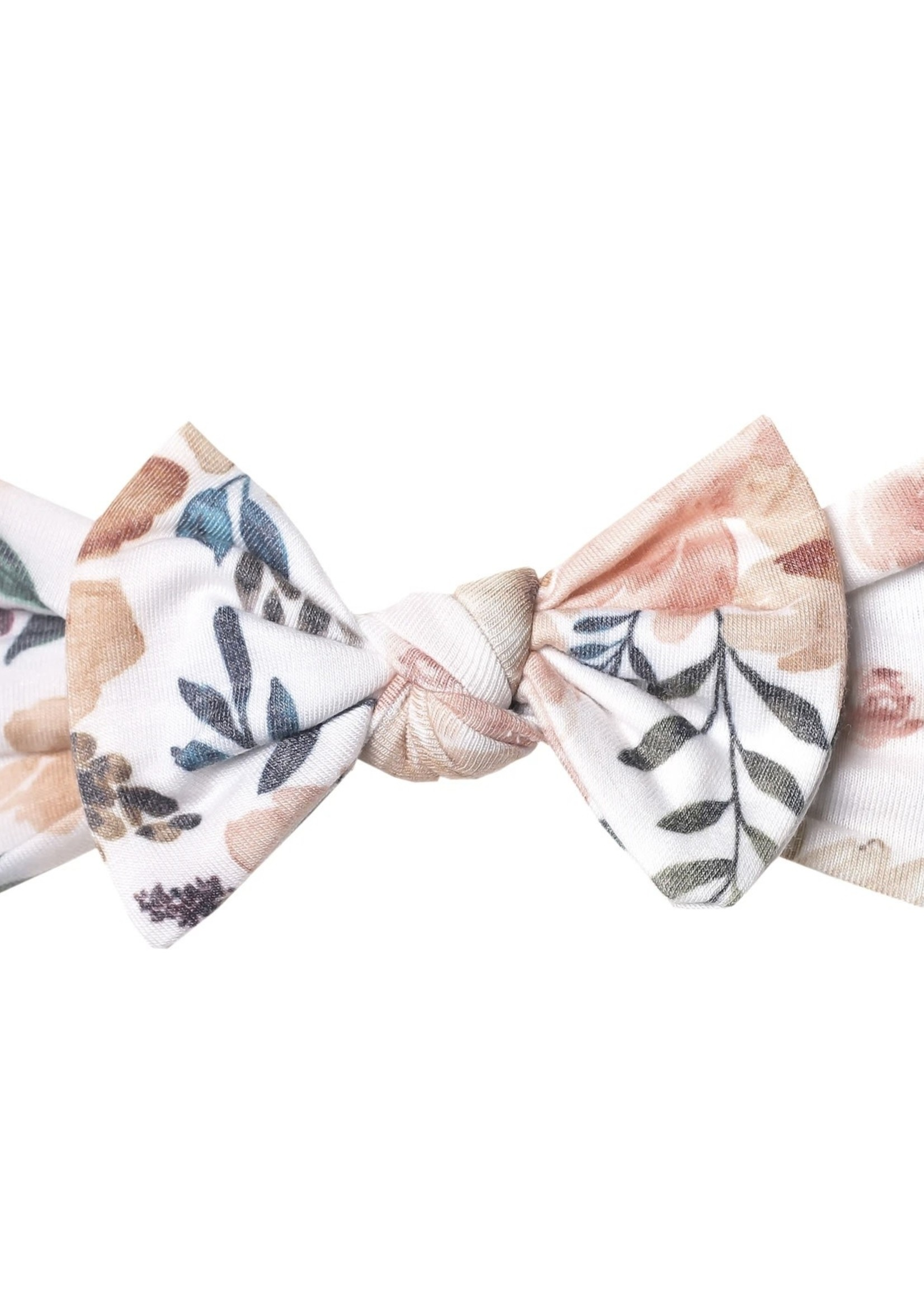 COPPER PEARL Knit Headband Bow AUTUMN
