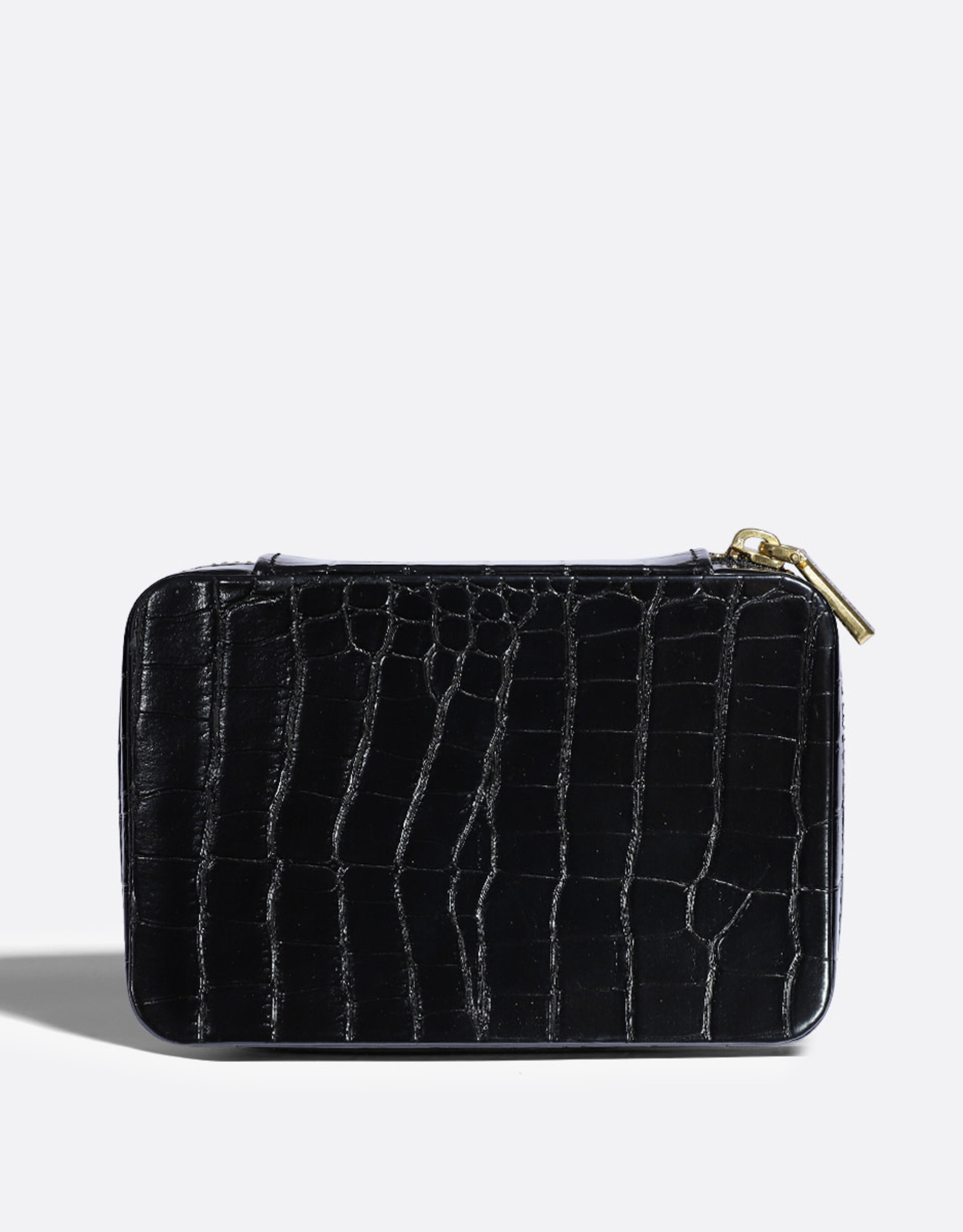 PIXIE MOOD Blake Jewelry Case – Black Croc