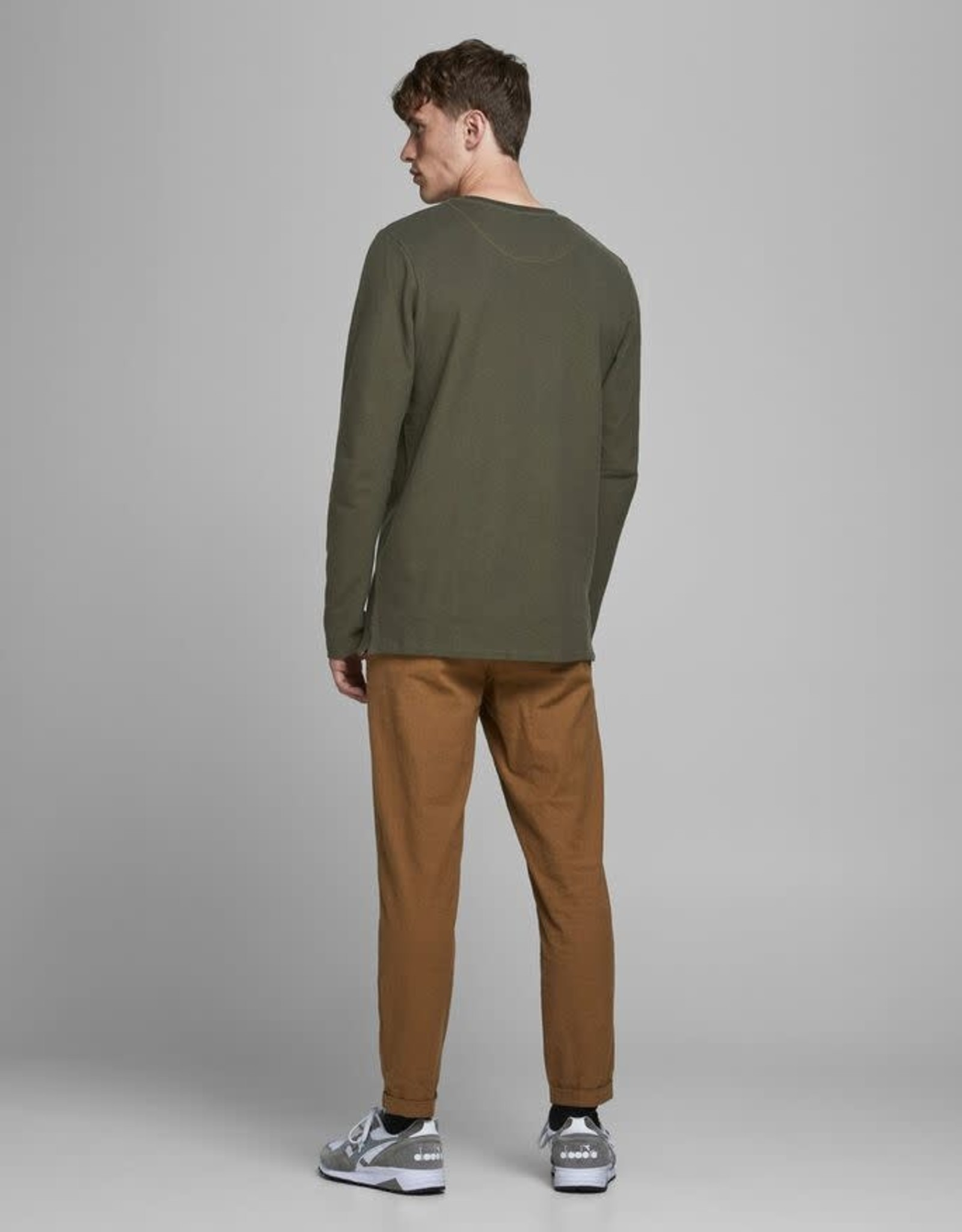 JACK & JONES Long Sleeve Henley T-Shirt