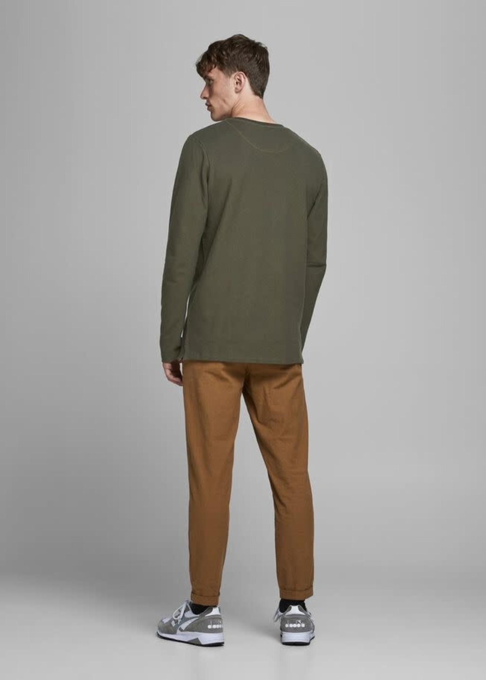 JACK & JONES Long Sleeve Henley T-Shirt