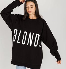 "BRUNETTE  the label The ""BLONDE"" Big Sister Crew Neck Sweatshirt"