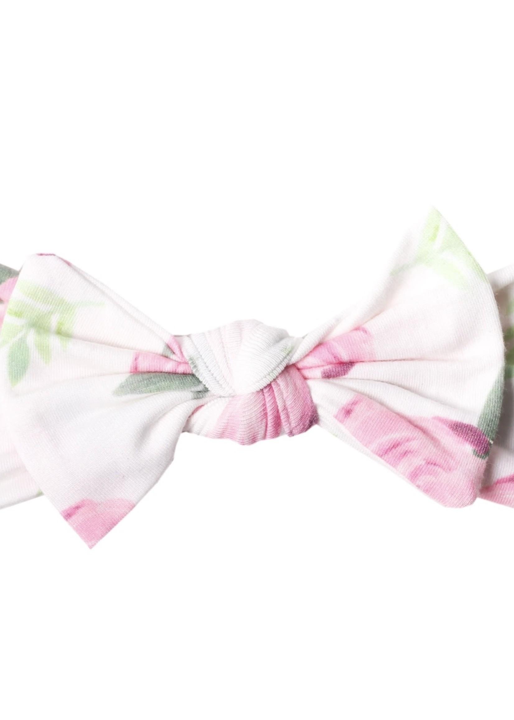 COPPER PEARL Knit Headband Bow GRACE