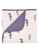 KYTE BABY Printed Baby Blanket SEA HORSE