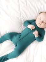 KYTE BABY Buttoned Footie EMERALD