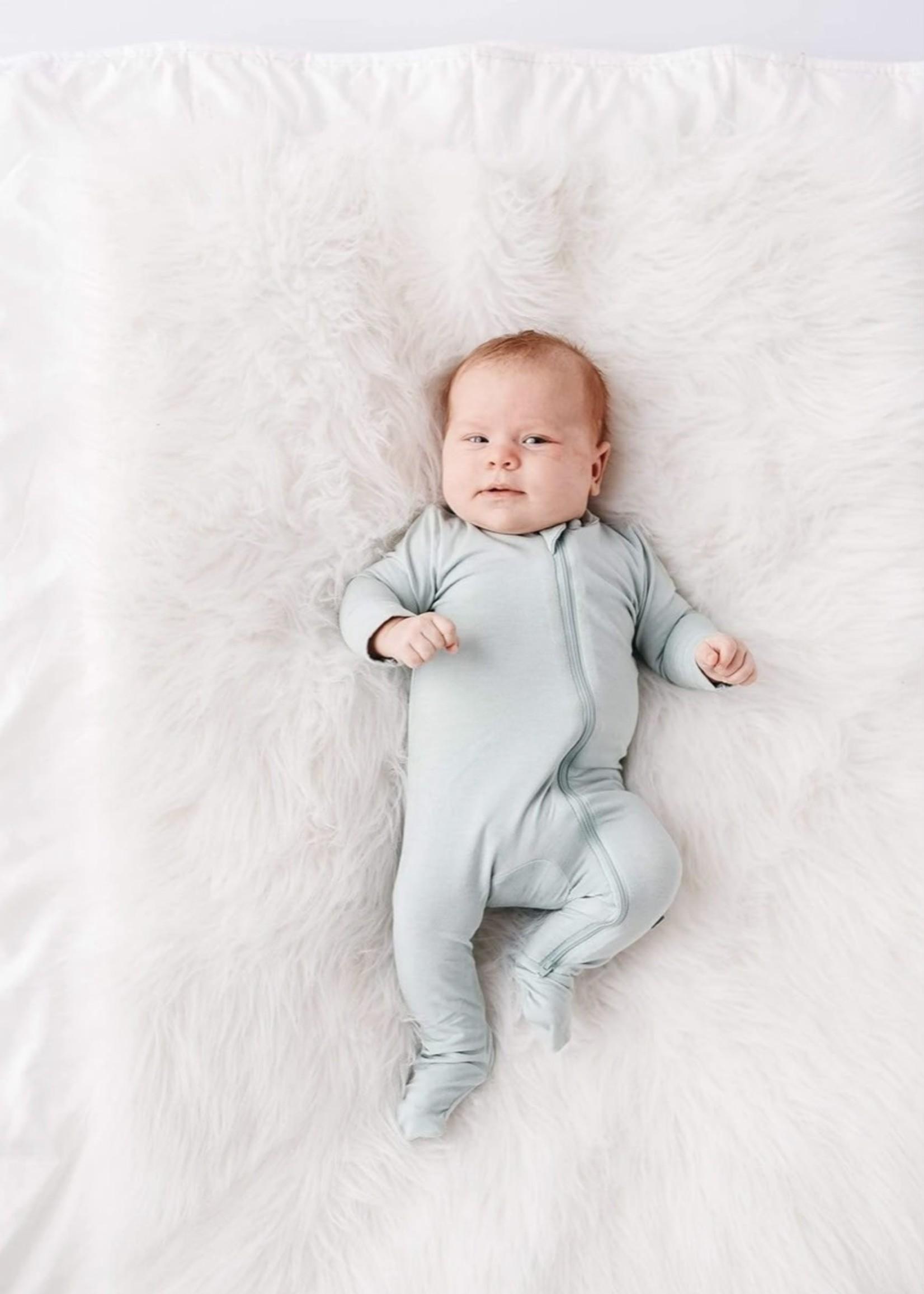 KYTE BABY Zippered Footie SAGE