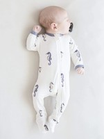 KYTE BABY Printed Zippered Footie SEA HORSE