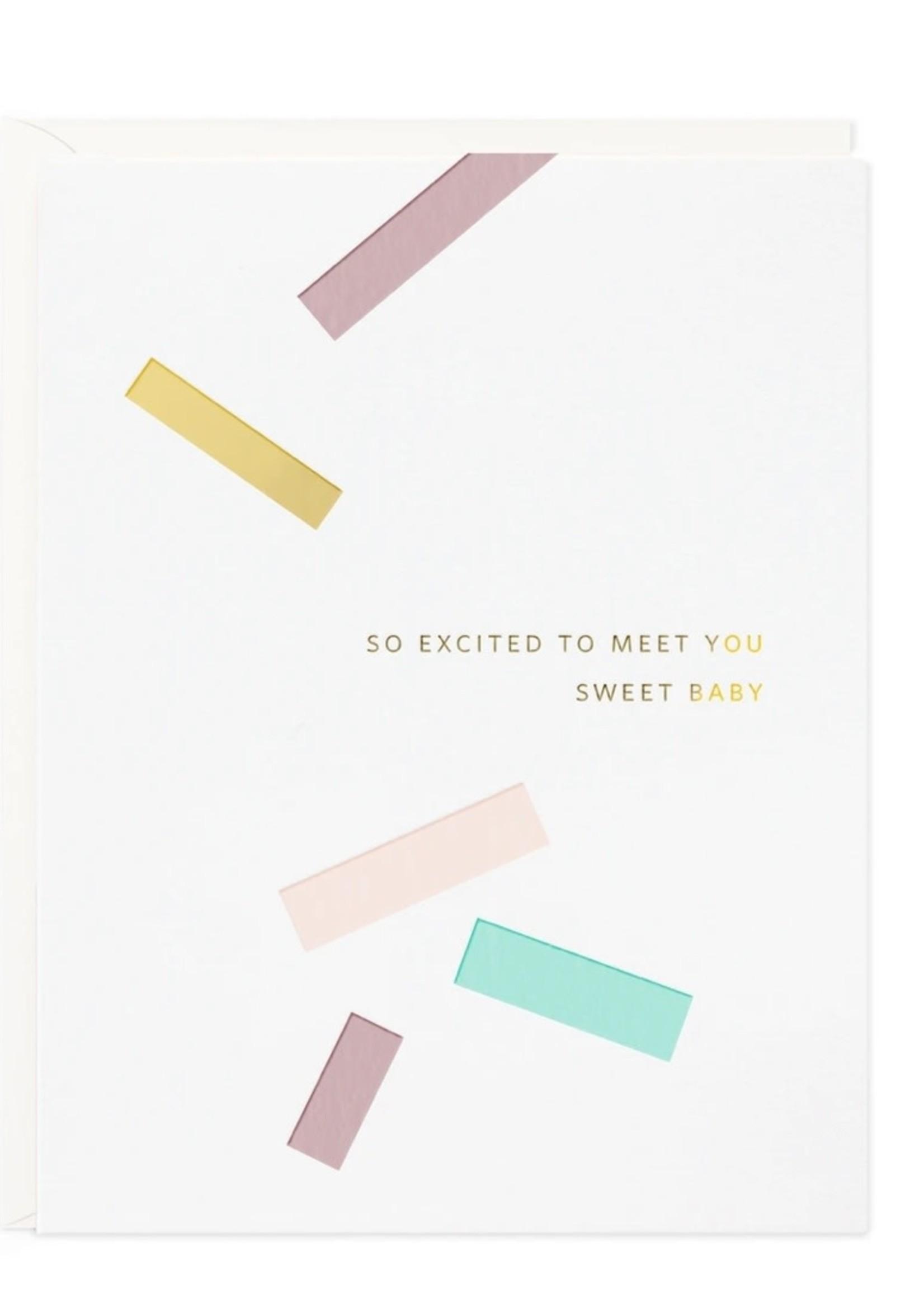 RAMONA + RUTH Sweet Baby Confetti Card
