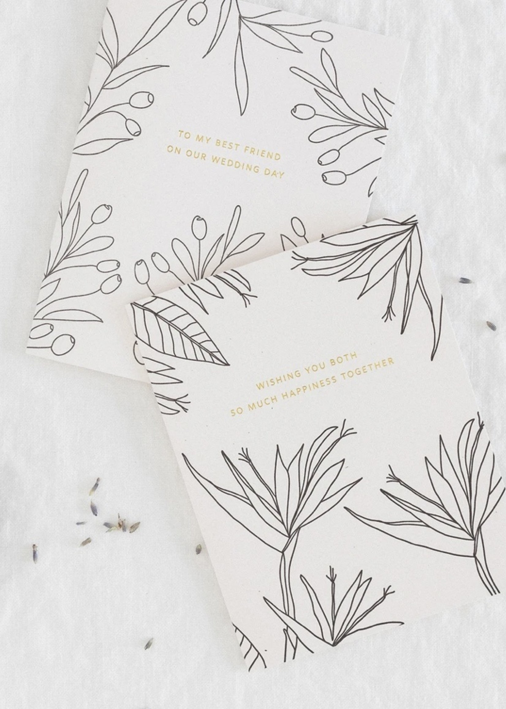 RAMONA + RUTH Happiness Wedding Botanical Card