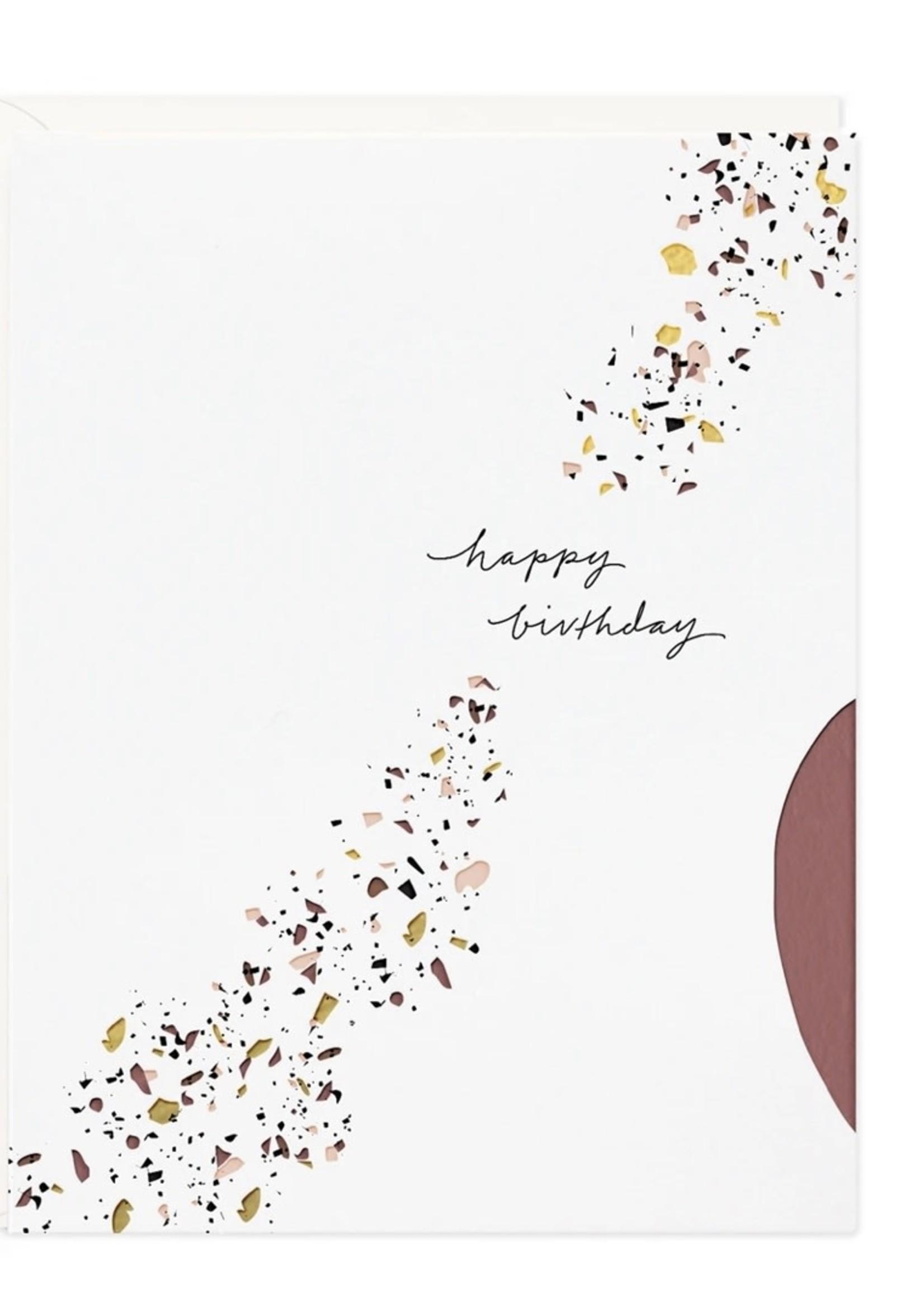 RAMONA + RUTH Happy Birthday Terrazzo Card