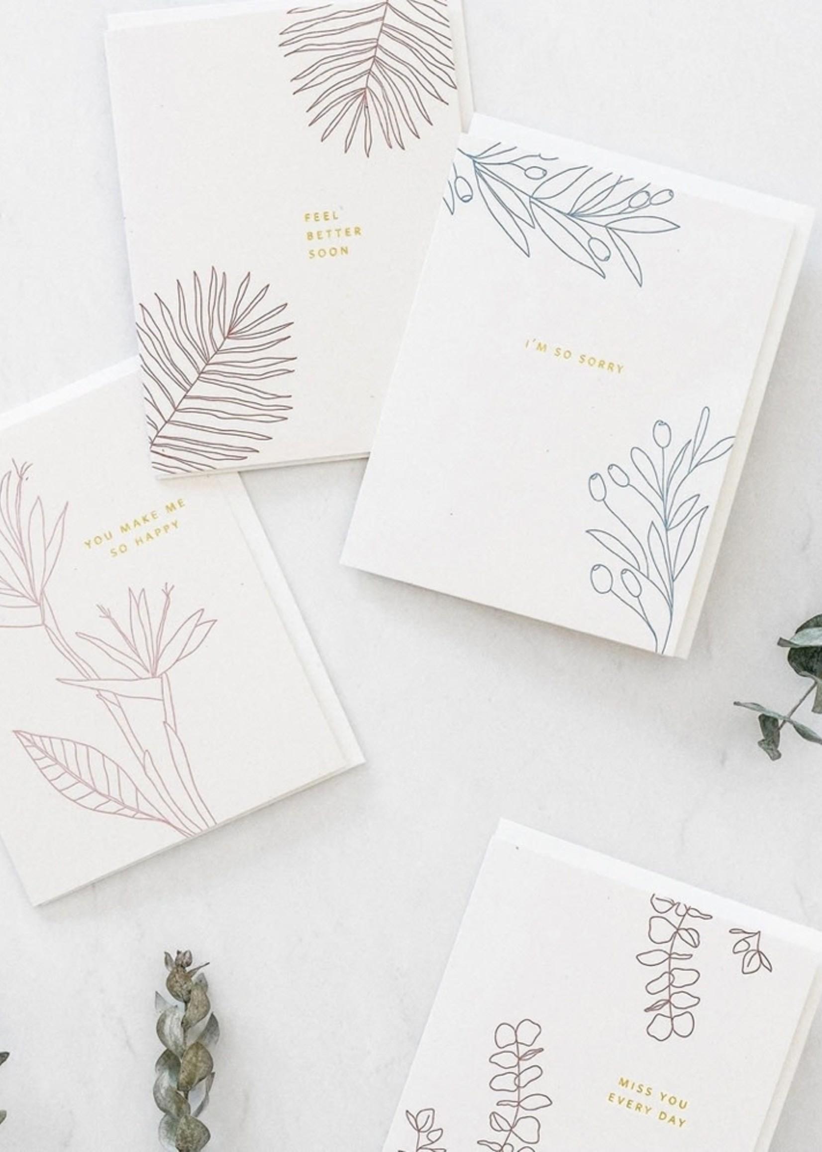 RAMONA + RUTH So Sorry Botanical Card