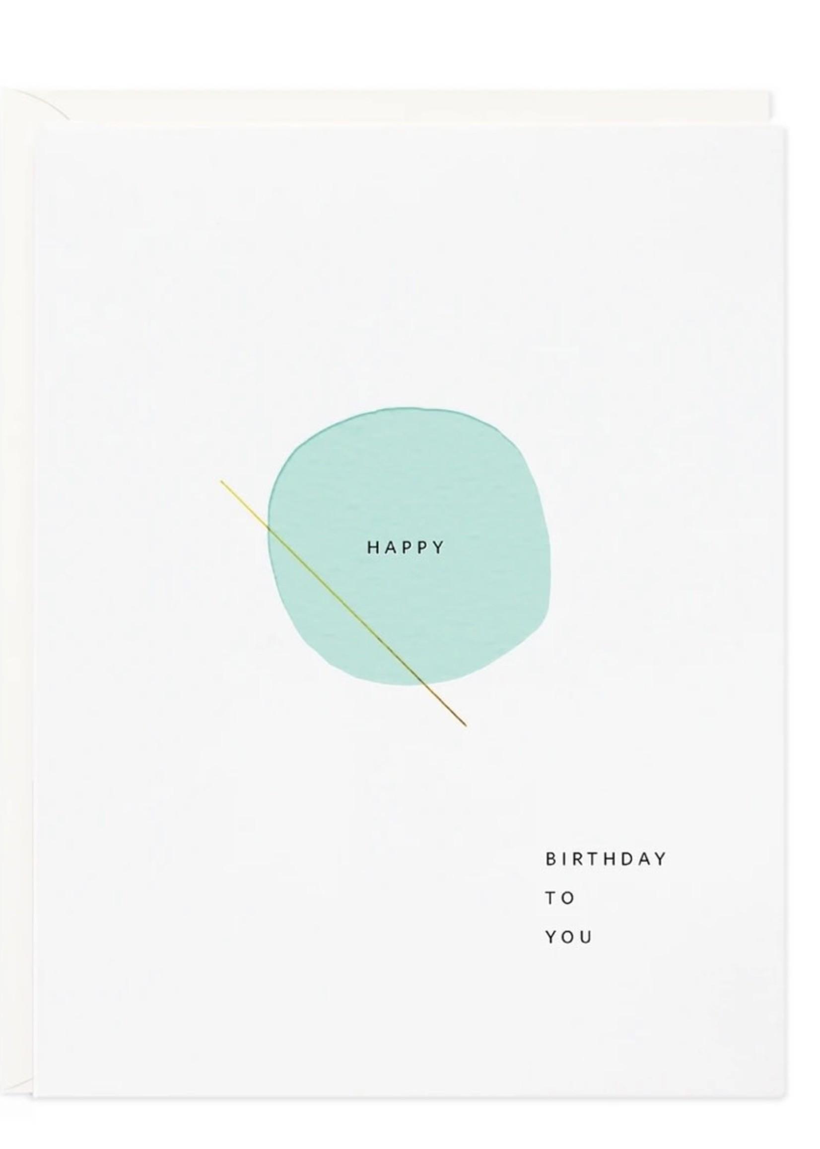 RAMONA + RUTH Happy Bday Circle Greeting Card
