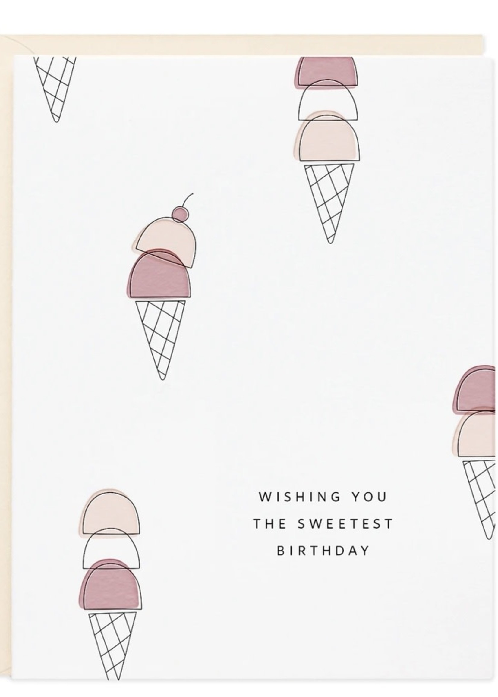 RAMONA + RUTH Birthday Ice Cream Greeting Card