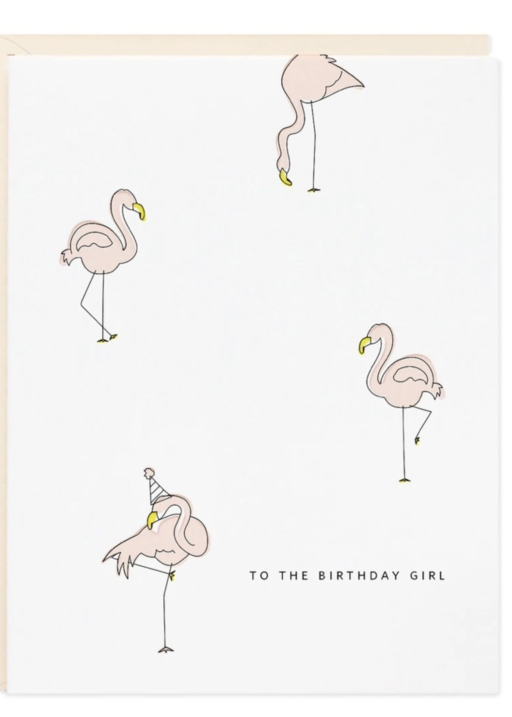 RAMONA + RUTH Birthday Girl Flamingo Greeting Card
