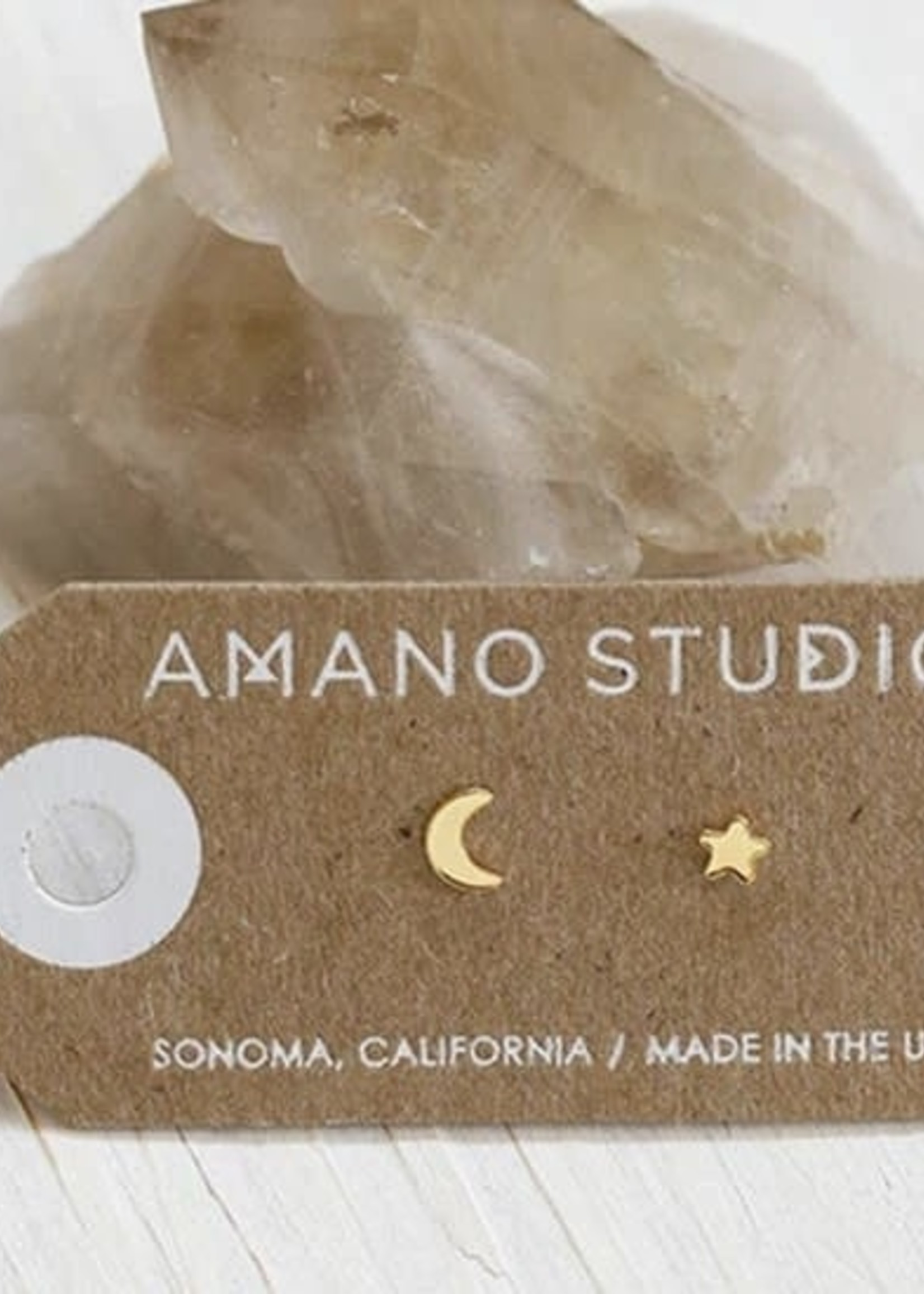 AMANO studio Night Sky Studs 14k Gold Plated
