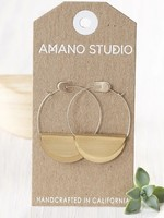 AMANO studio Hathor Hoops Sterling Silver Ear Wires