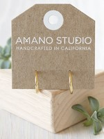 AMANO studio Simple Huggie Hoops 14k Gold