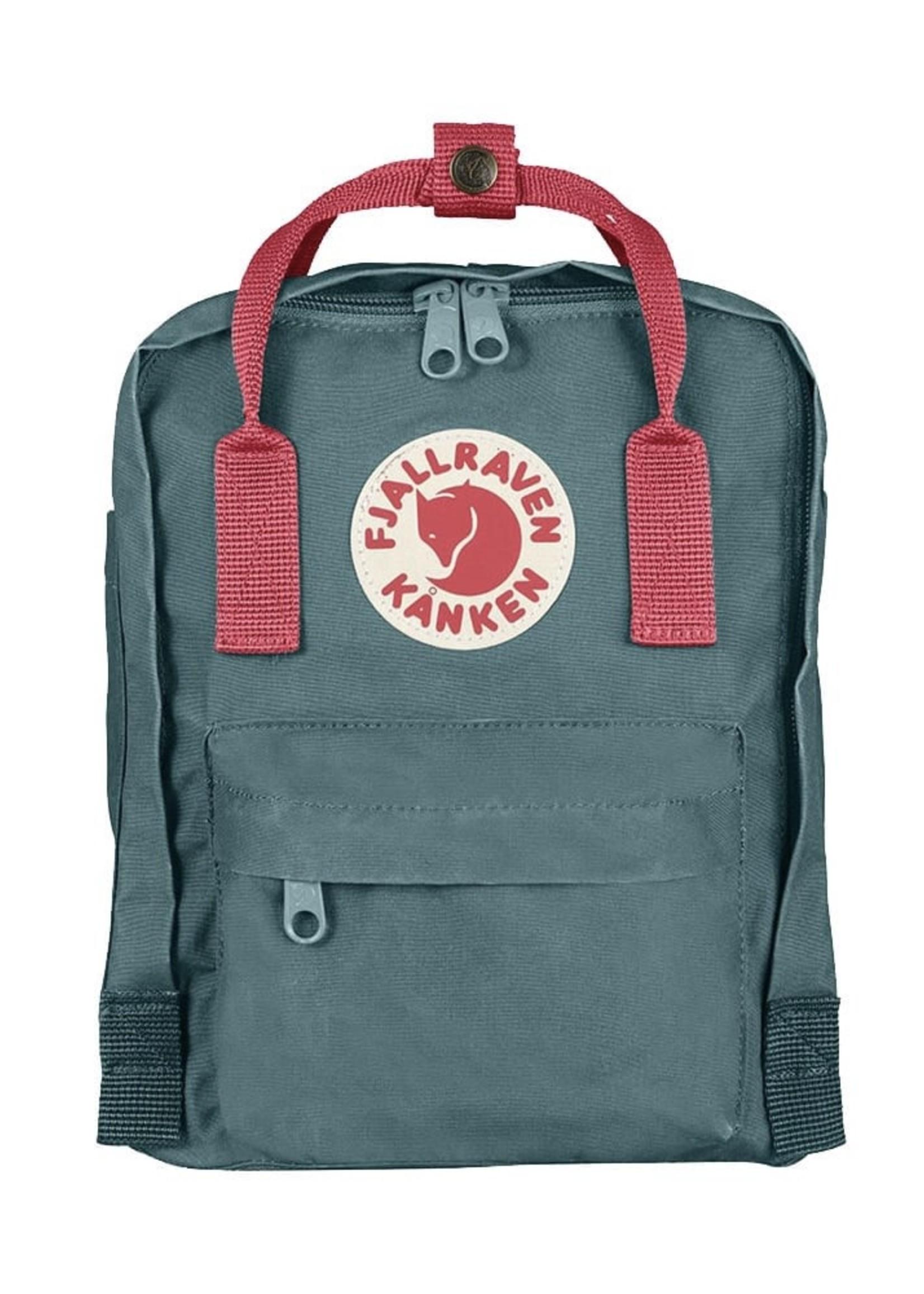 FJALL RAVEN Kanken Backpack Mini FROST GREEN/PEACH PINK