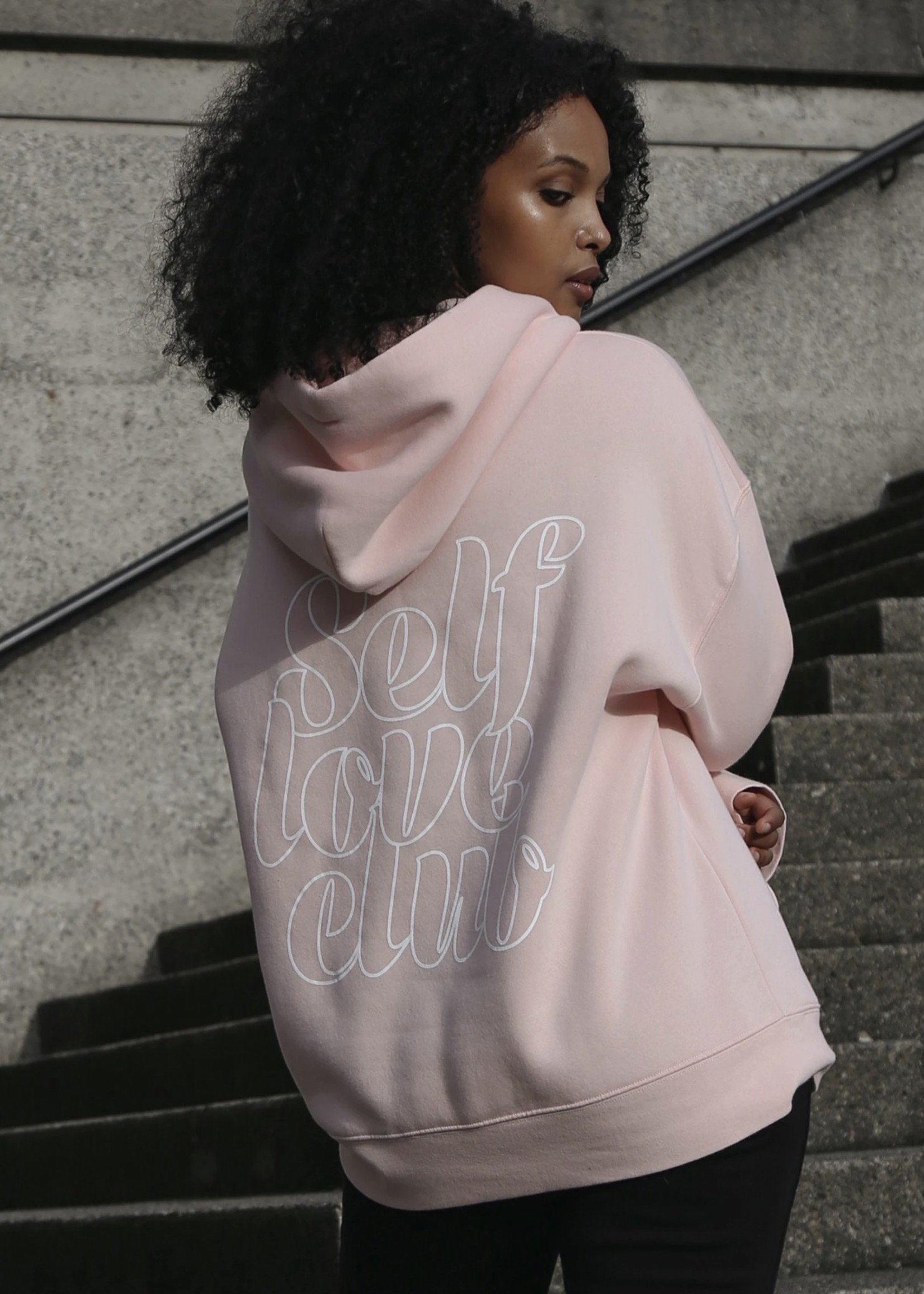 "BRUNETTE  the label The ""SELF LOVE CLUB"" Big Sister Hoodie"