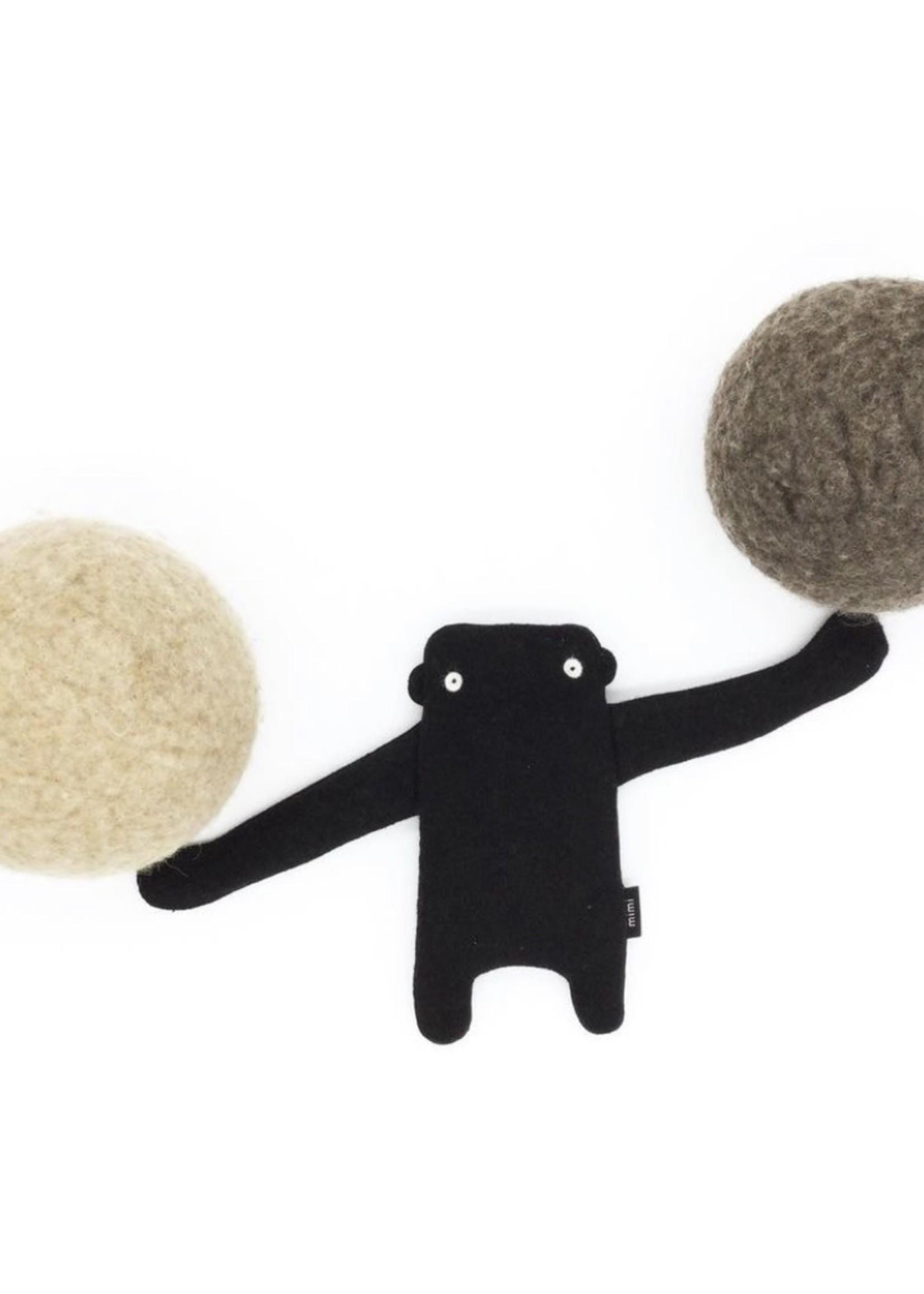 MIMI + MOO Organic Crinkle Toy GORILLA