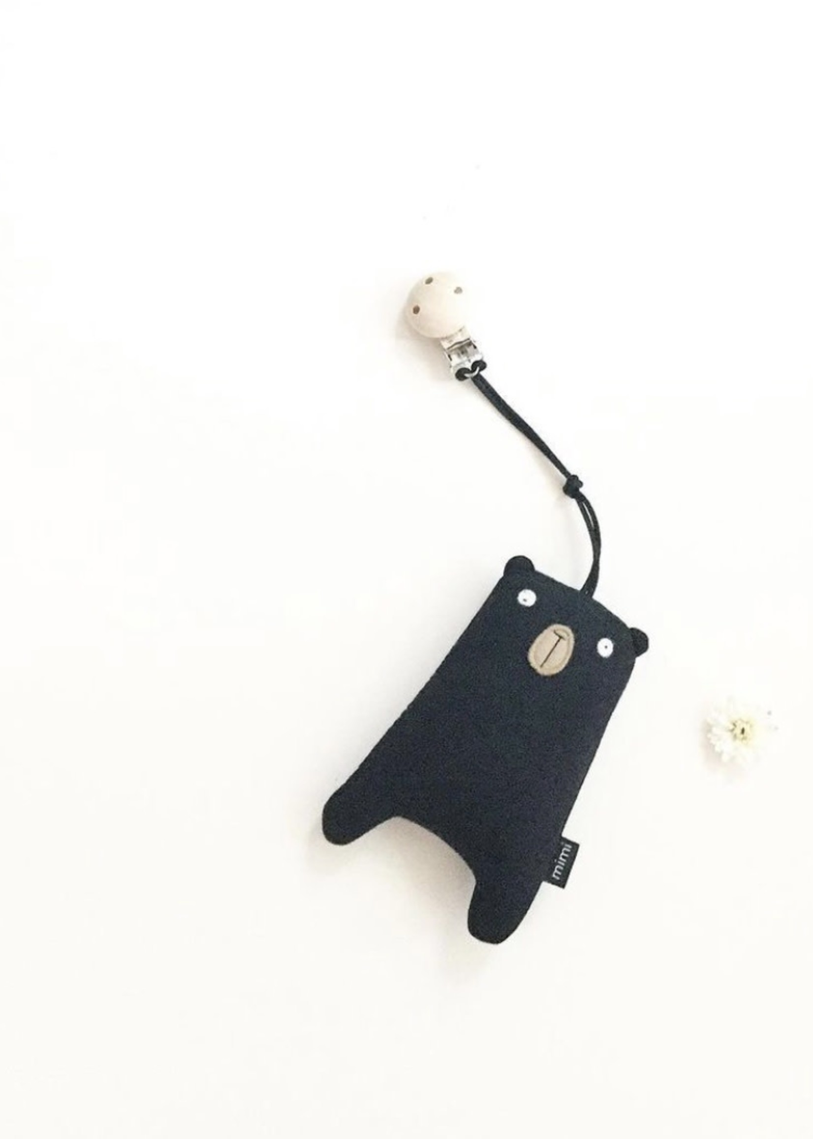 MIMI + MOO Stroller Clip With Rattle BEAR