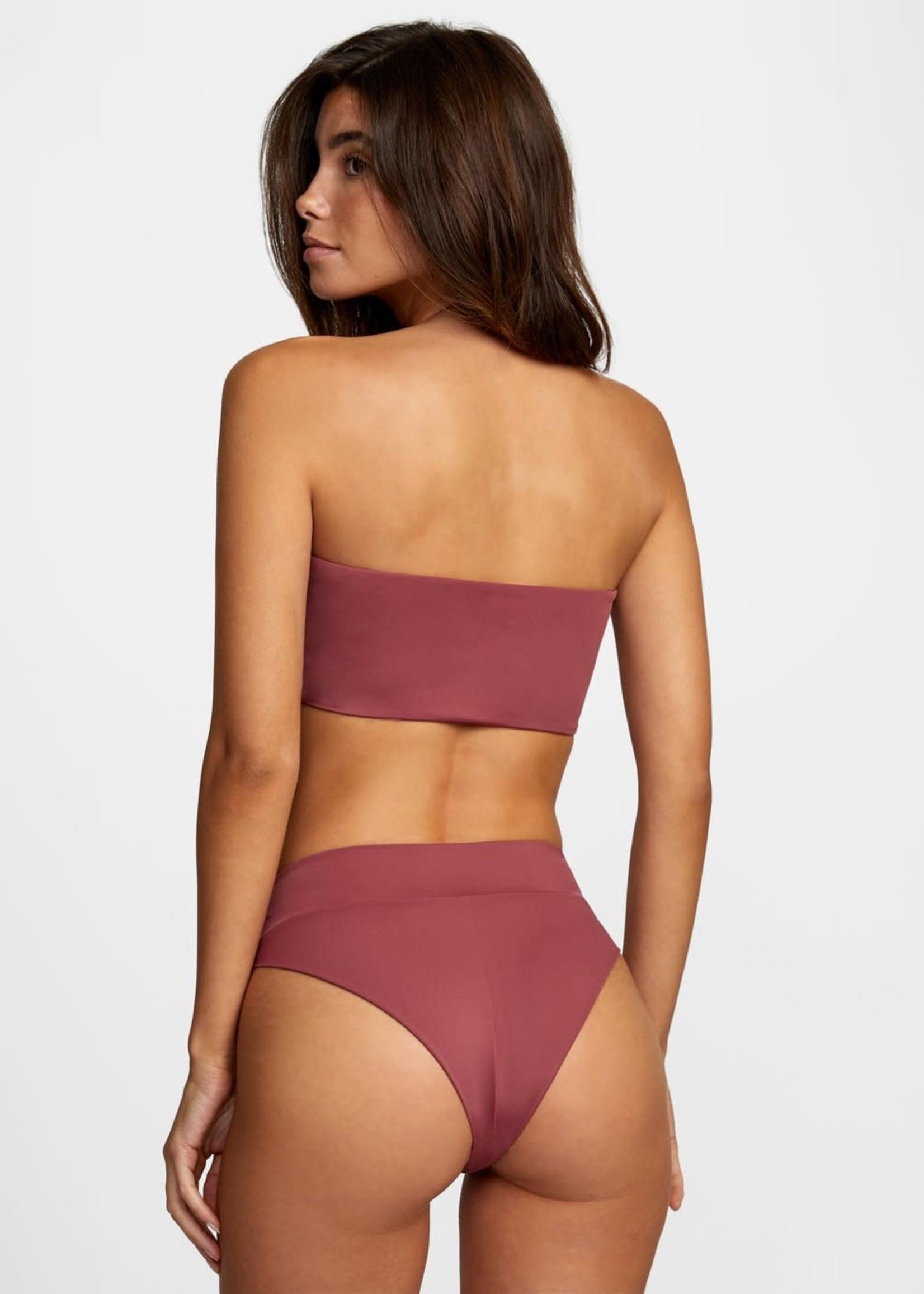 RVCA Solid High Rise Bikini Bottom