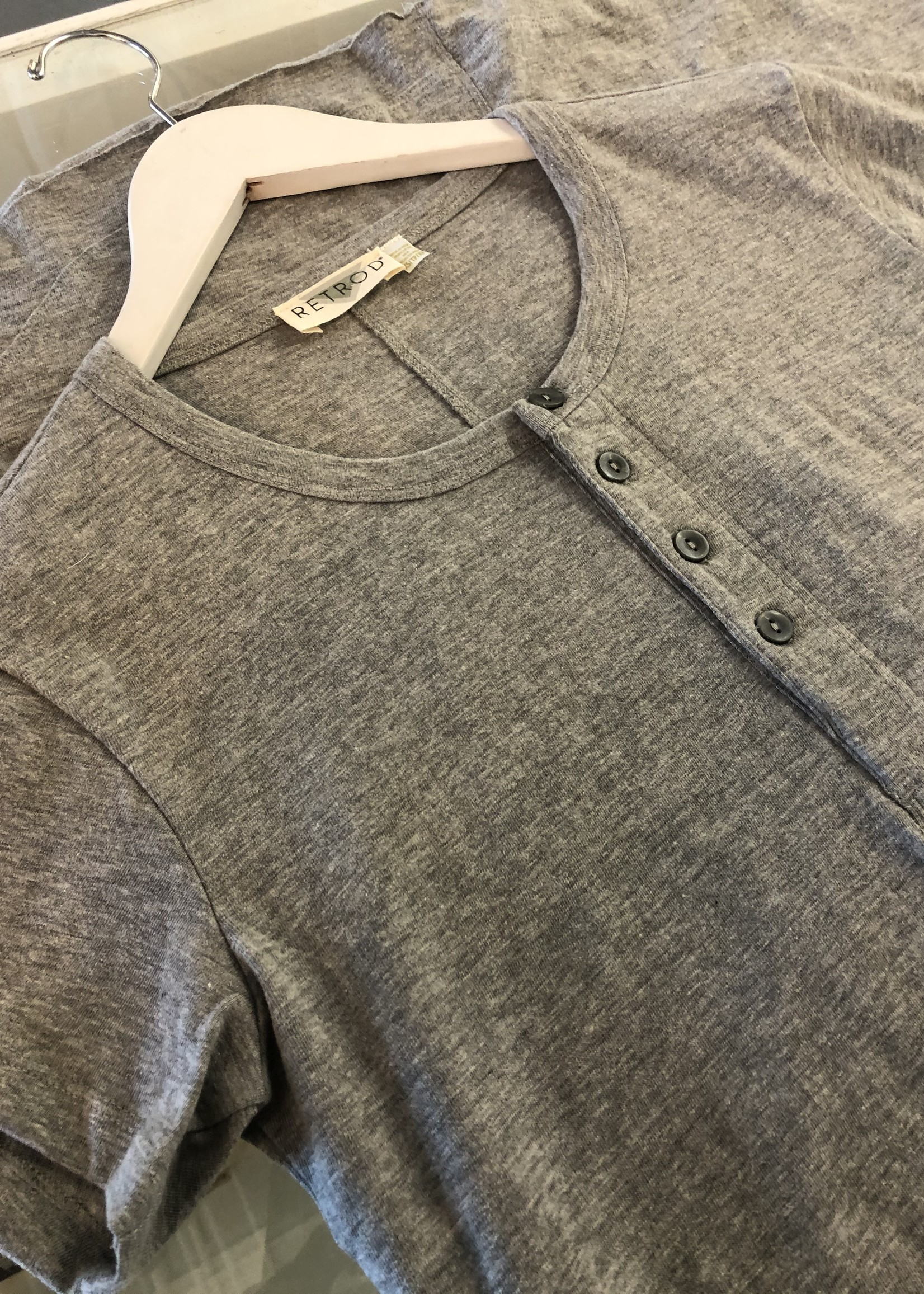 RD STYLE HenleyT-shirt Dress