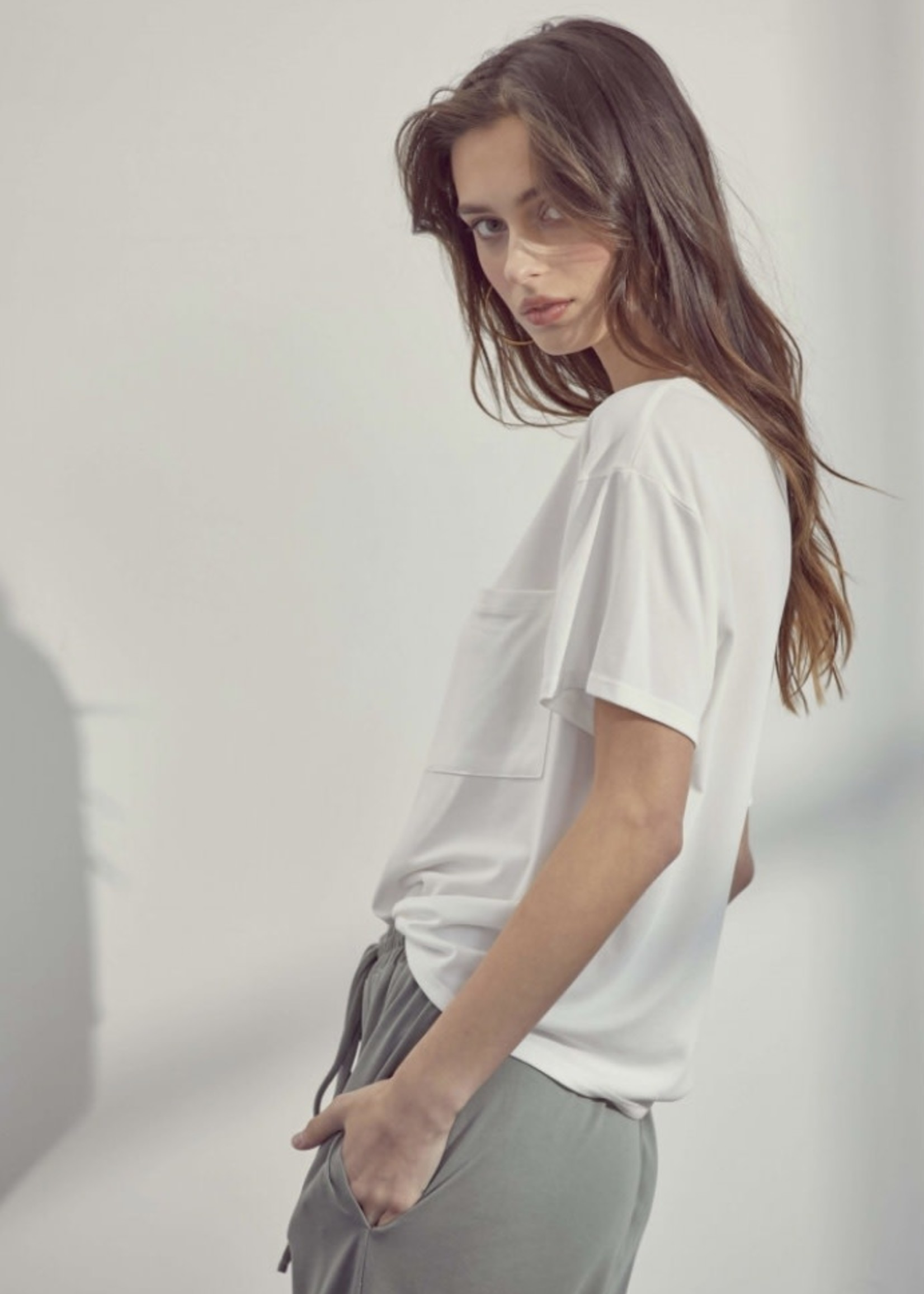 LUSH Basic Tee with Front Pocket, more colours