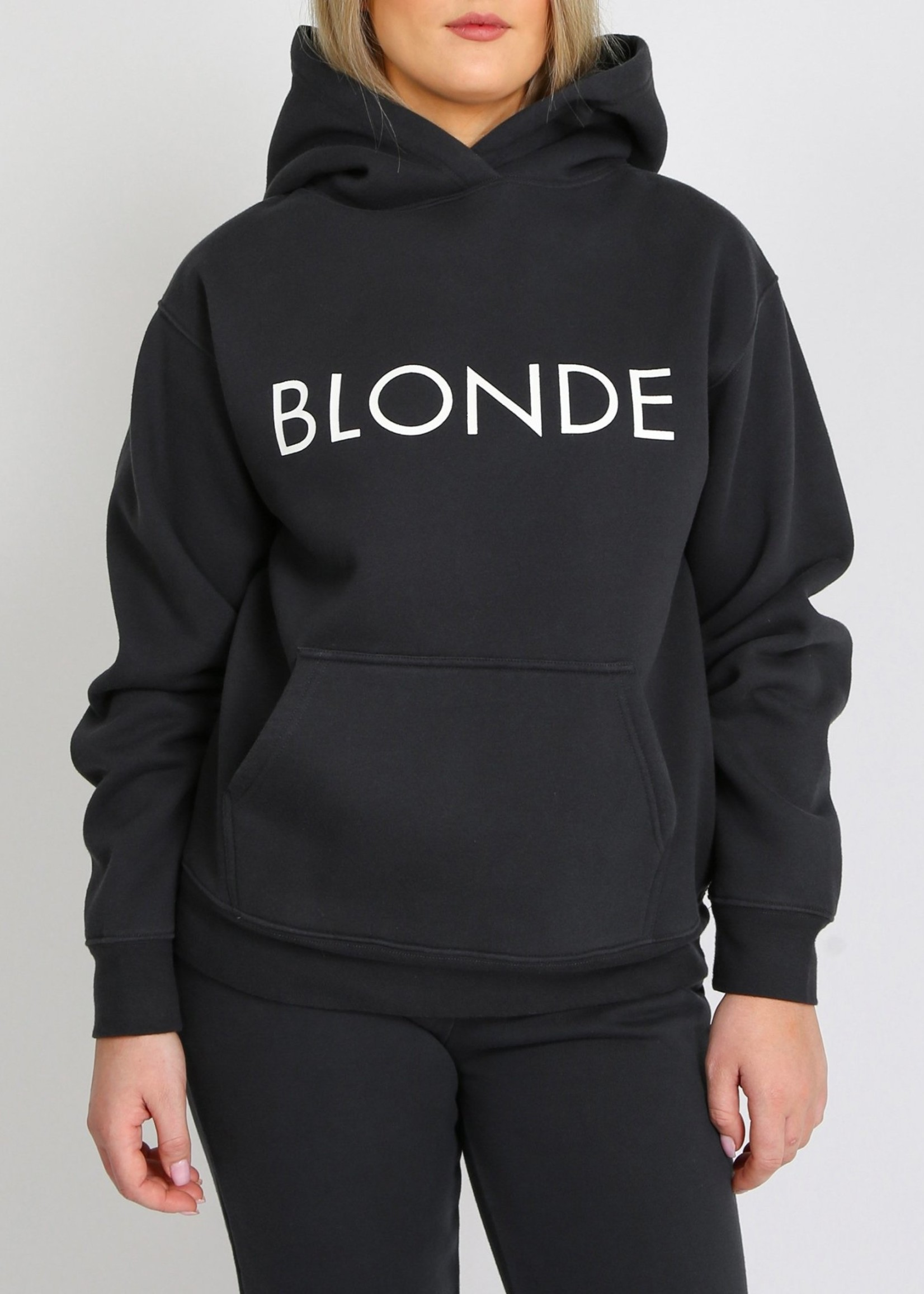 "BRUNETTE  the label The ""BLONDE"" Classic Hoodie"