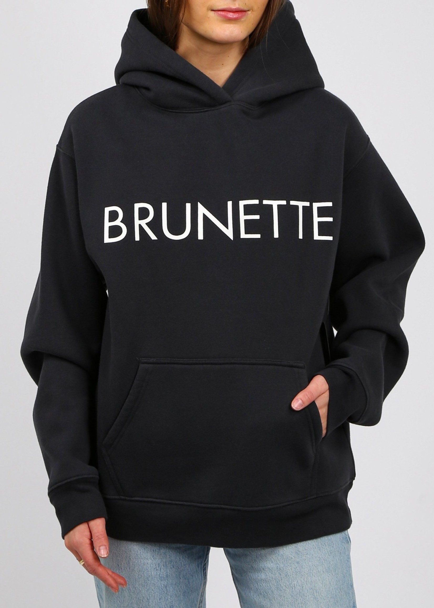 """BRUNETTE  the label The """"BRUNETTE"""" Classic Hoodie"""