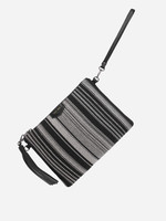 PIXIE MOOD Michelle Clutch BLACK+WHITE WOVEN