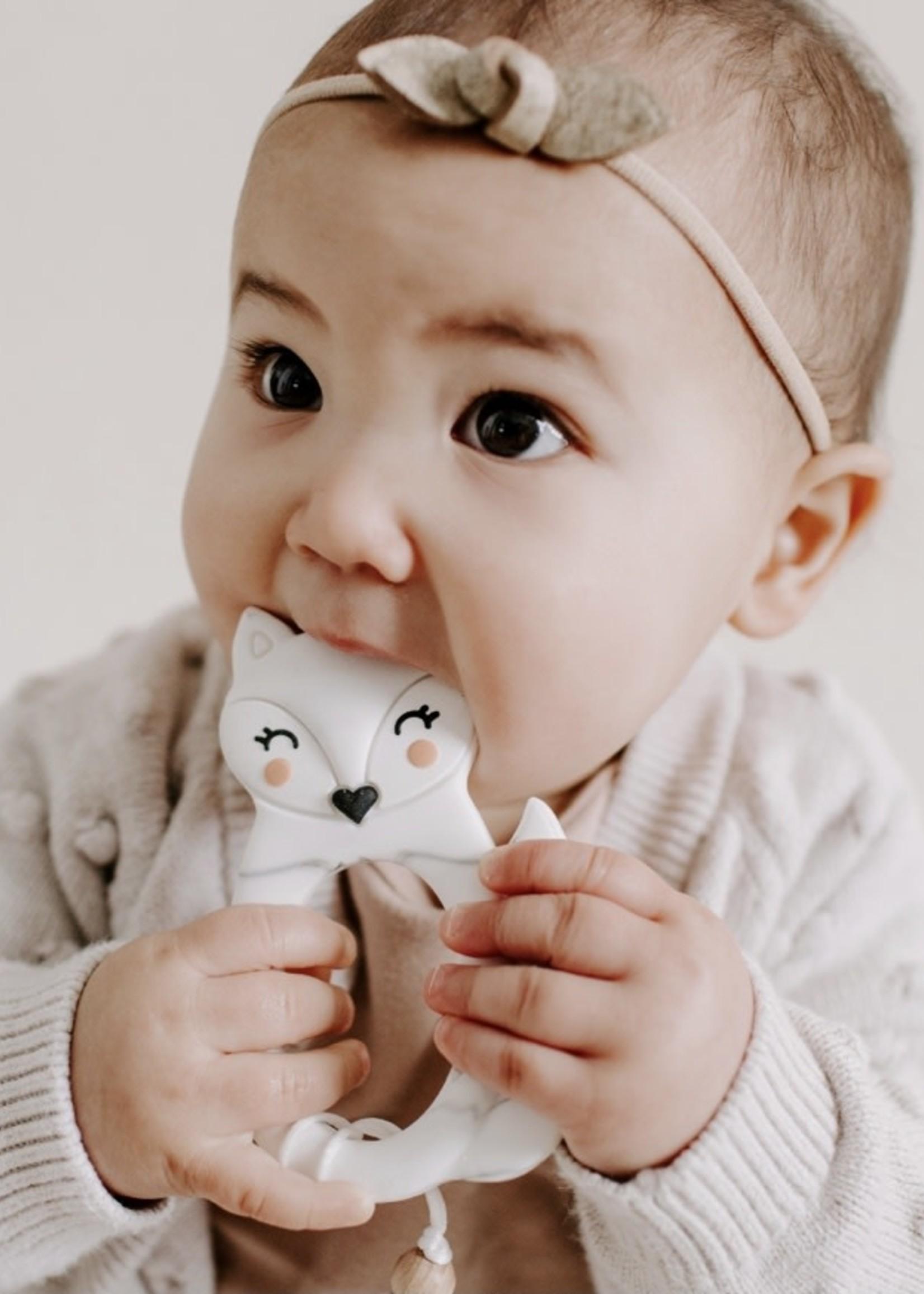LITTLE CHEEKS LITTLE CHEEKS Marble Fox TEETHER