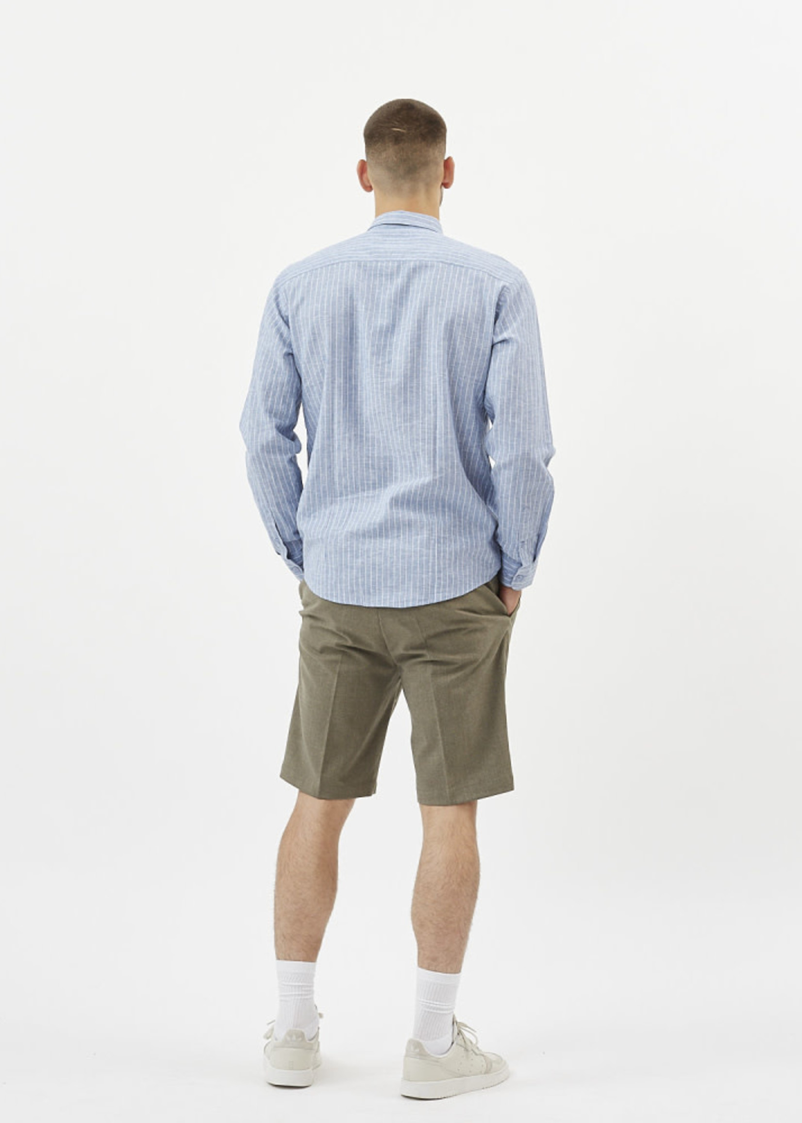 MINIMUM Walther Striped Long Sleeved Shirt