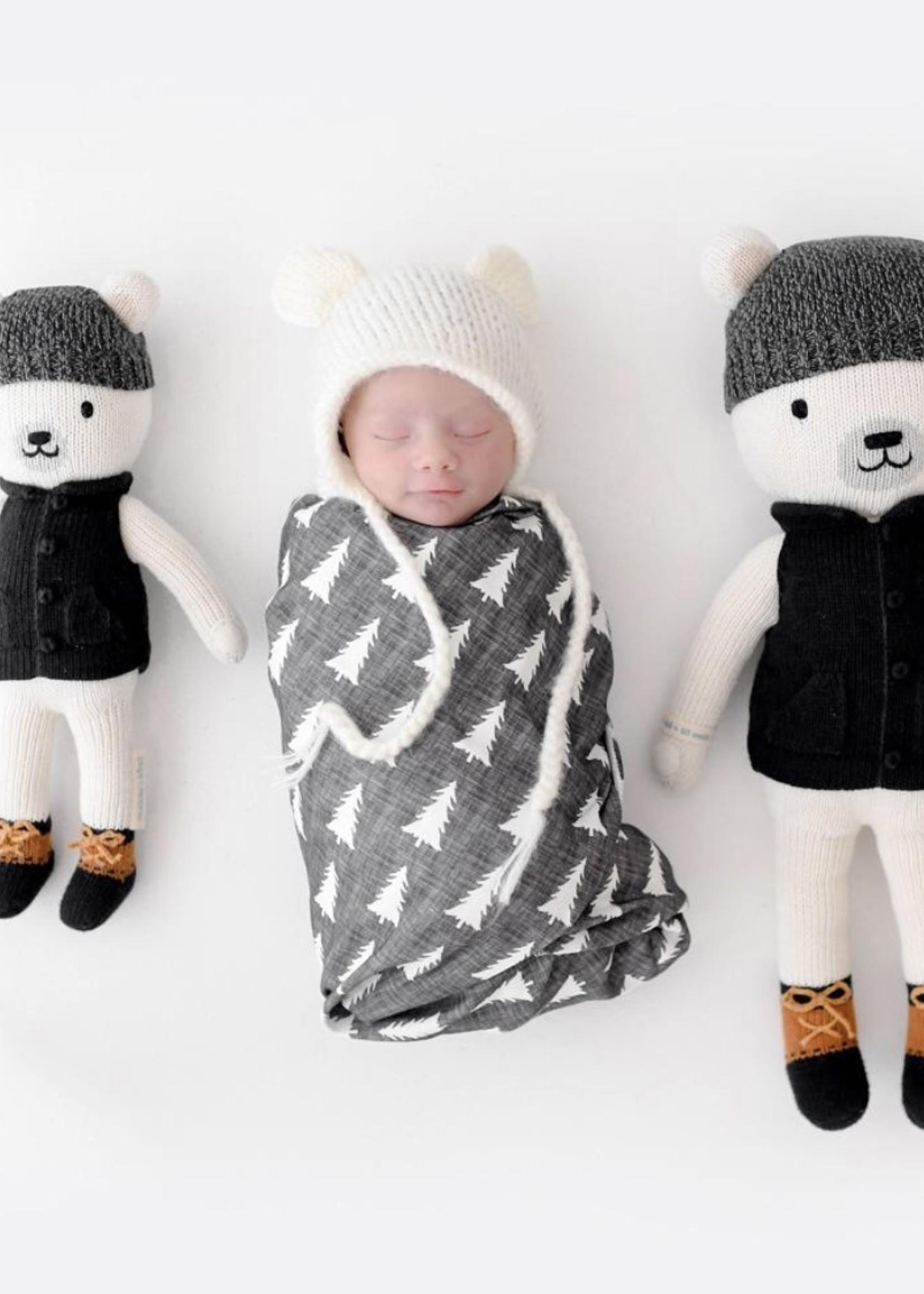 cuddle + kind Mini Polar Bear Knit Doll HUDSON