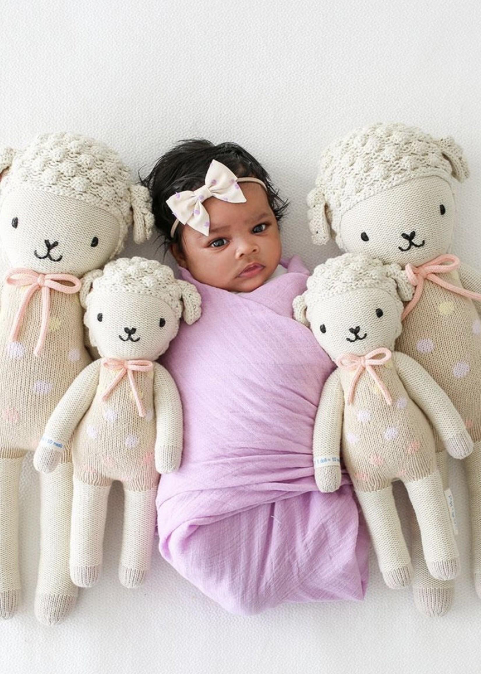 cuddle + kind Mini Lamb Knit Doll LUCY (pastel)