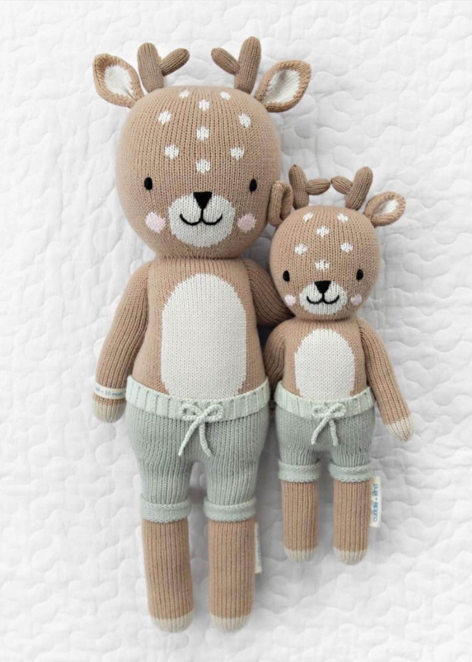 cuddle + kind Big Fawn Knit Doll ELLIOTT