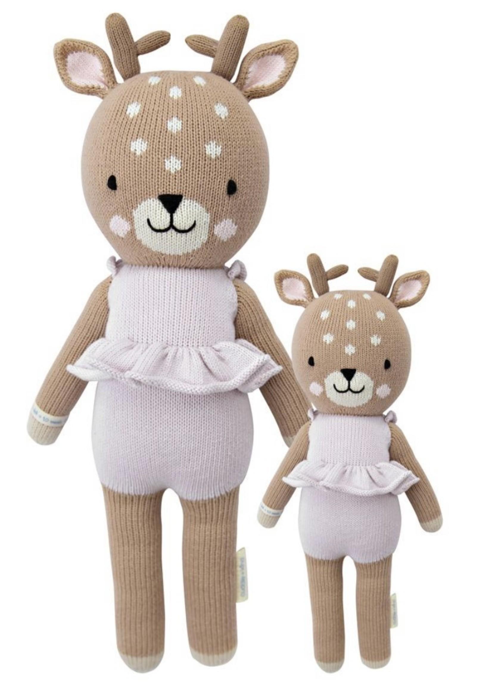 cuddle + kind Big Fawn Knit Doll VIOLET