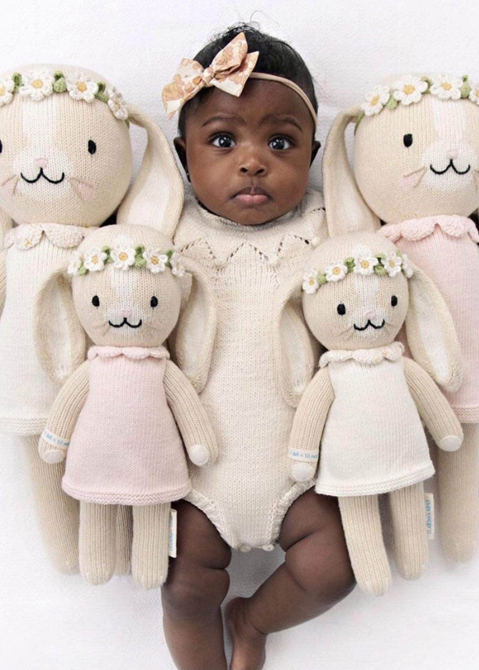 cuddle + kind Mini Bunny Knit Doll HANNAH (blush)