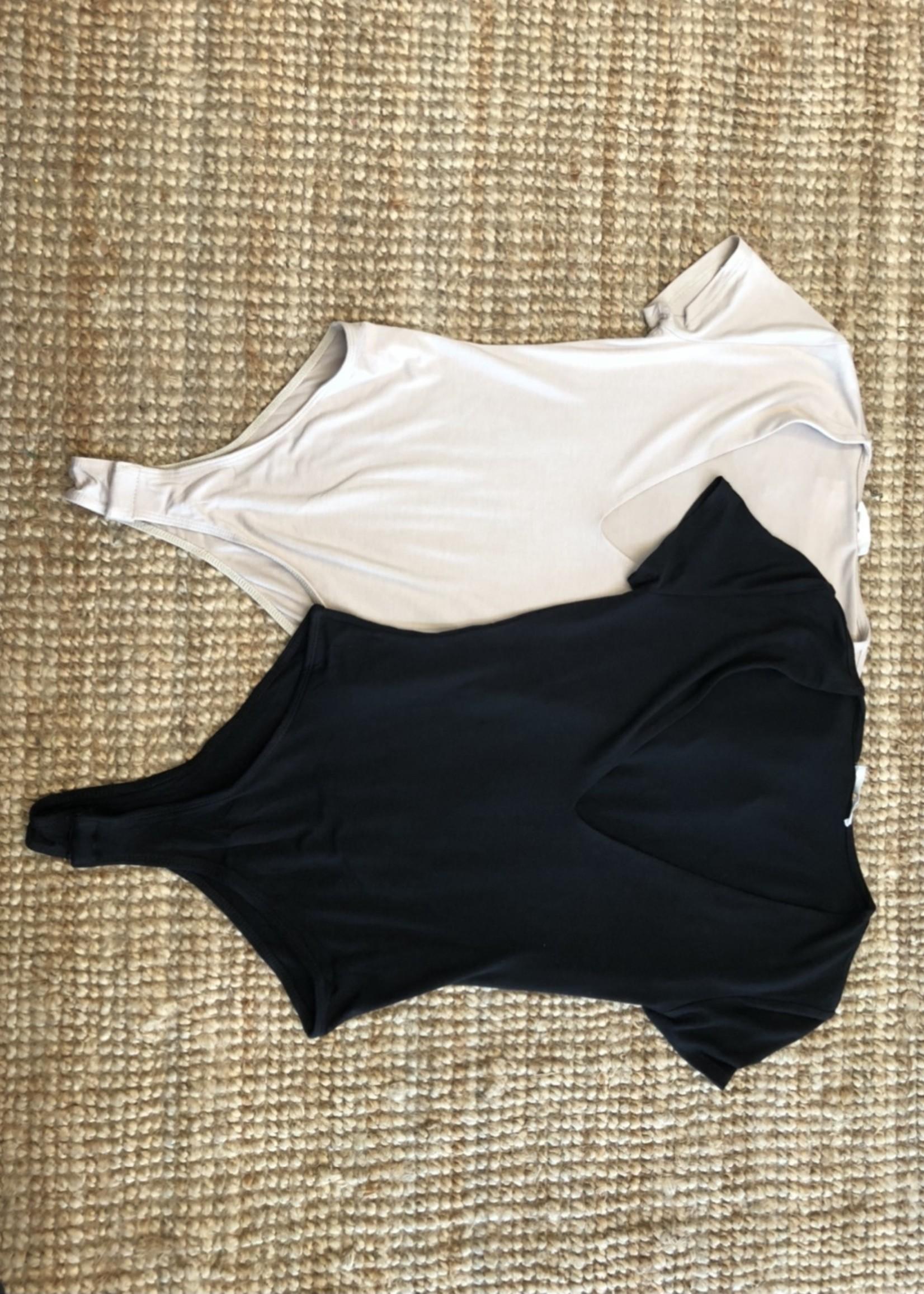 LeBLANC finds Deep V Neck Bodysuit