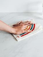 GOLDILOCKS wraps Swedish Dishcloth: Rainbow
