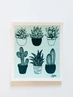 GOLDILOCKS wraps Swedish Dishcloth: Cacti