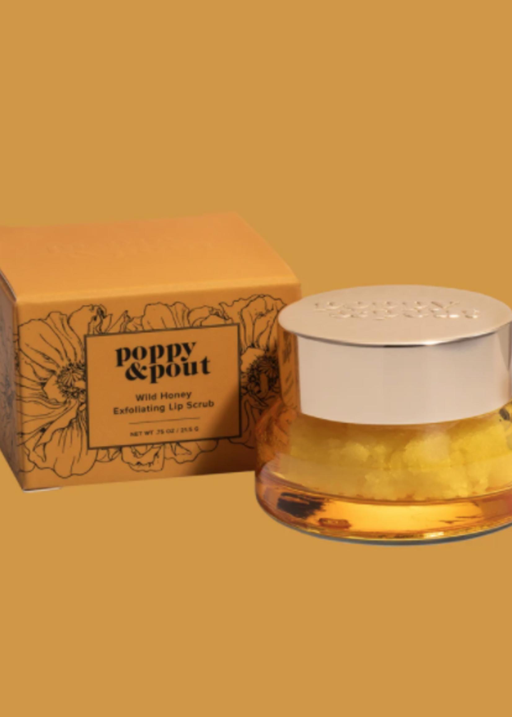POPPY & POUT Wild Honey Lip Scrub