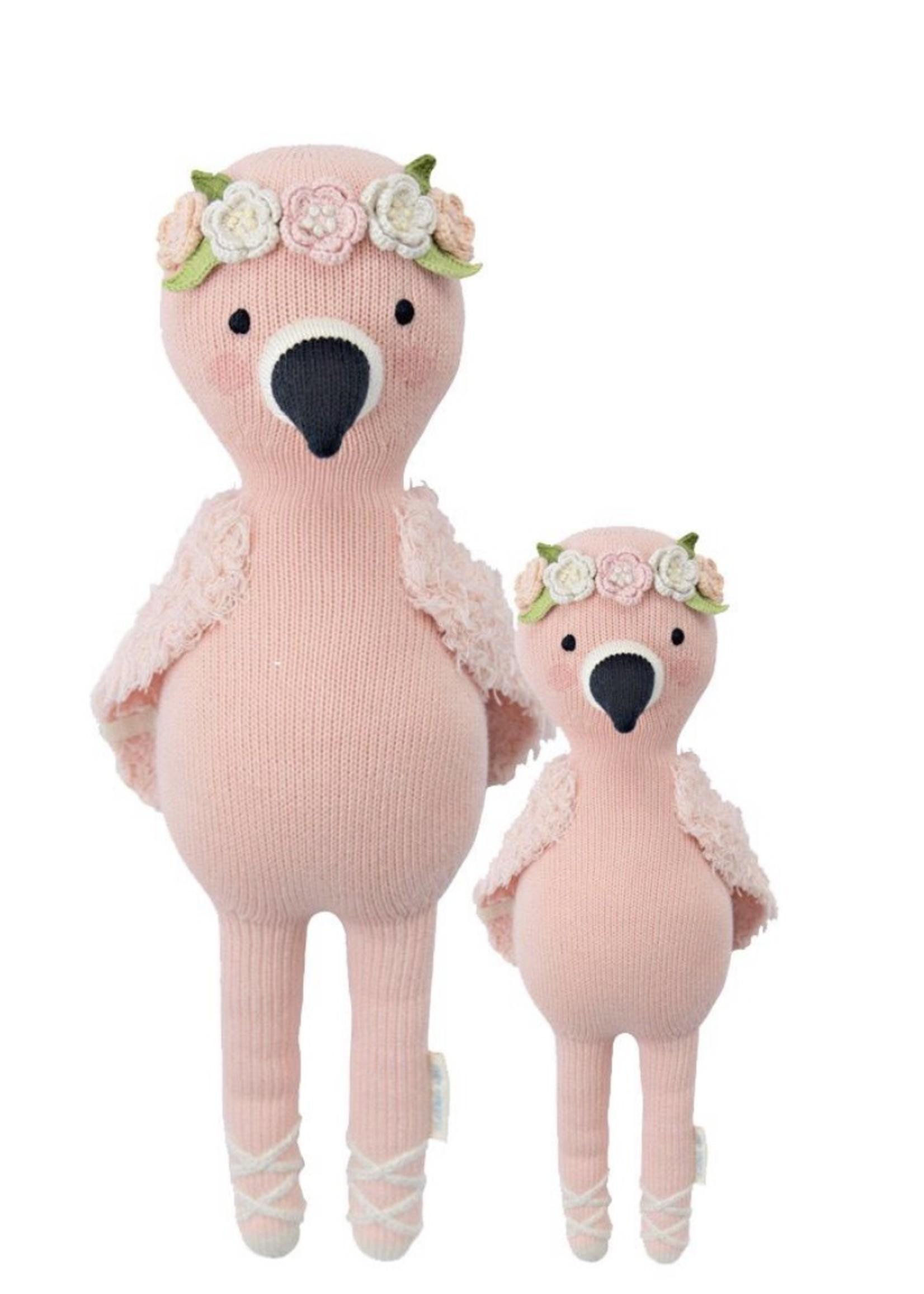 cuddle + kind Mini Flamingo Knit Doll PENELOPE