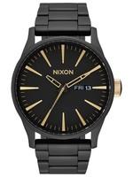 NIXON SENTRY Watch, Matte Black/ Gold