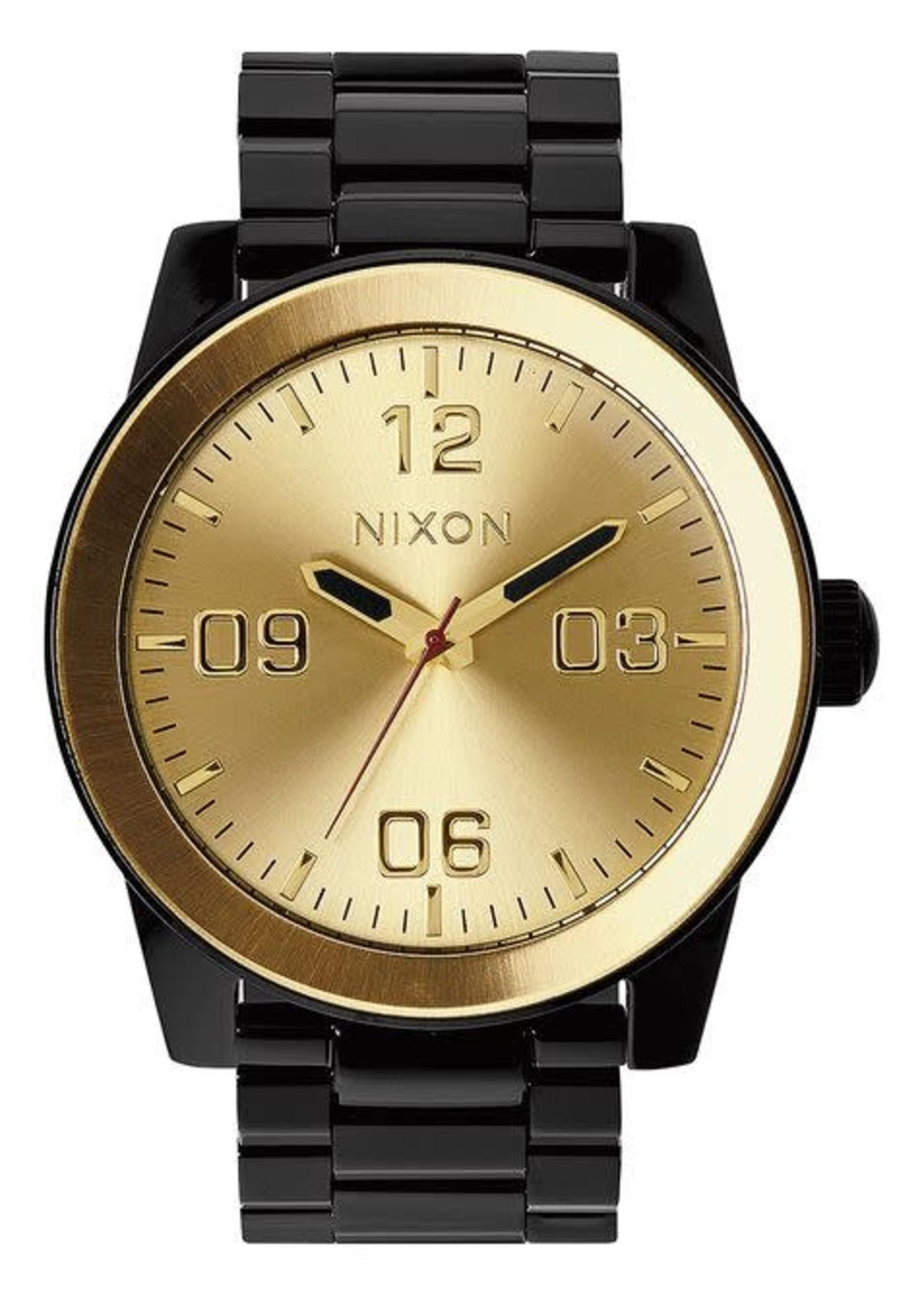 NIXON CORPORAL SS, Black/ Gold